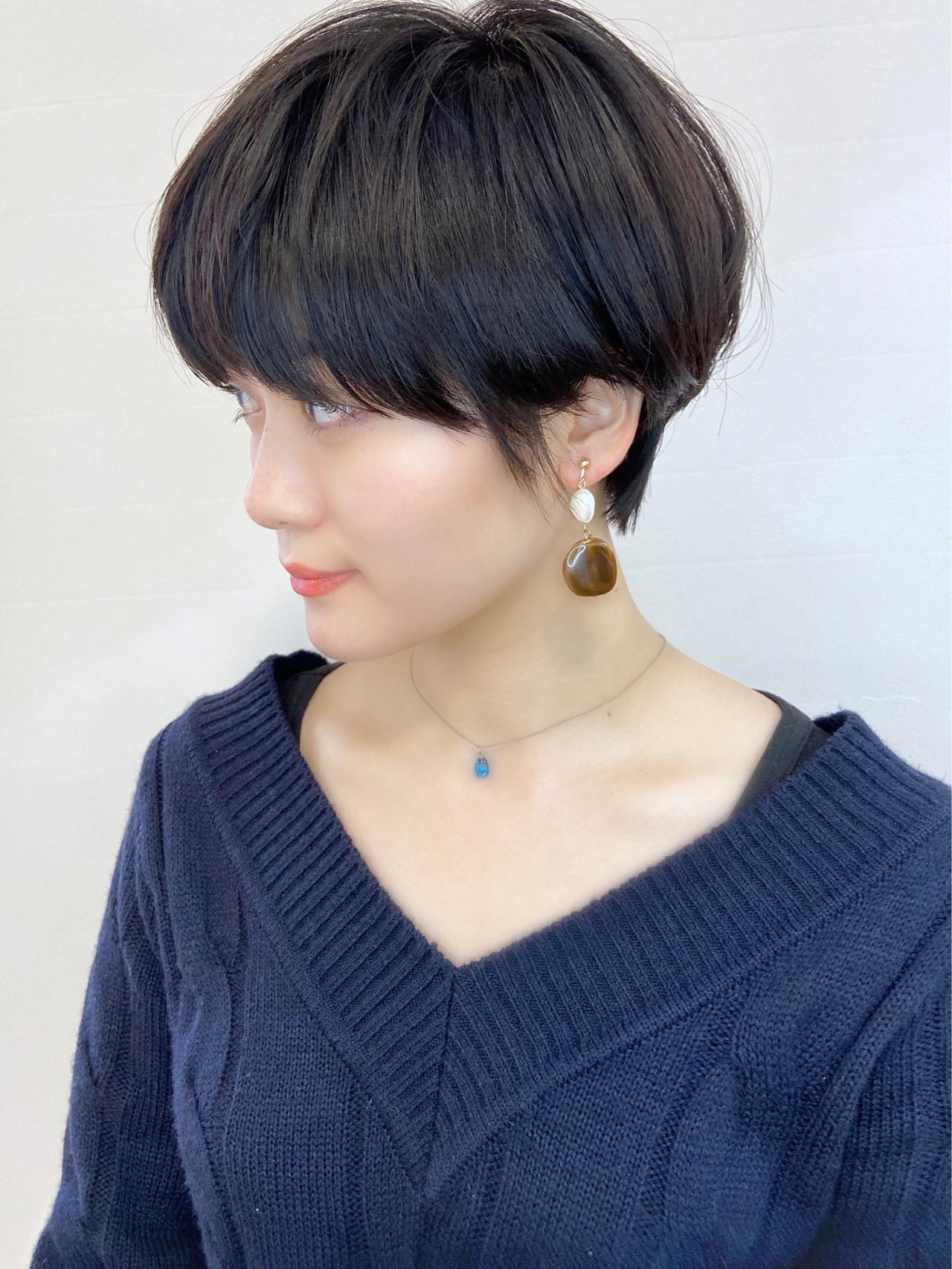 ベリーショート ショート 黒髪 ショートヘア ヘアスタイルや髪型の写真・画像