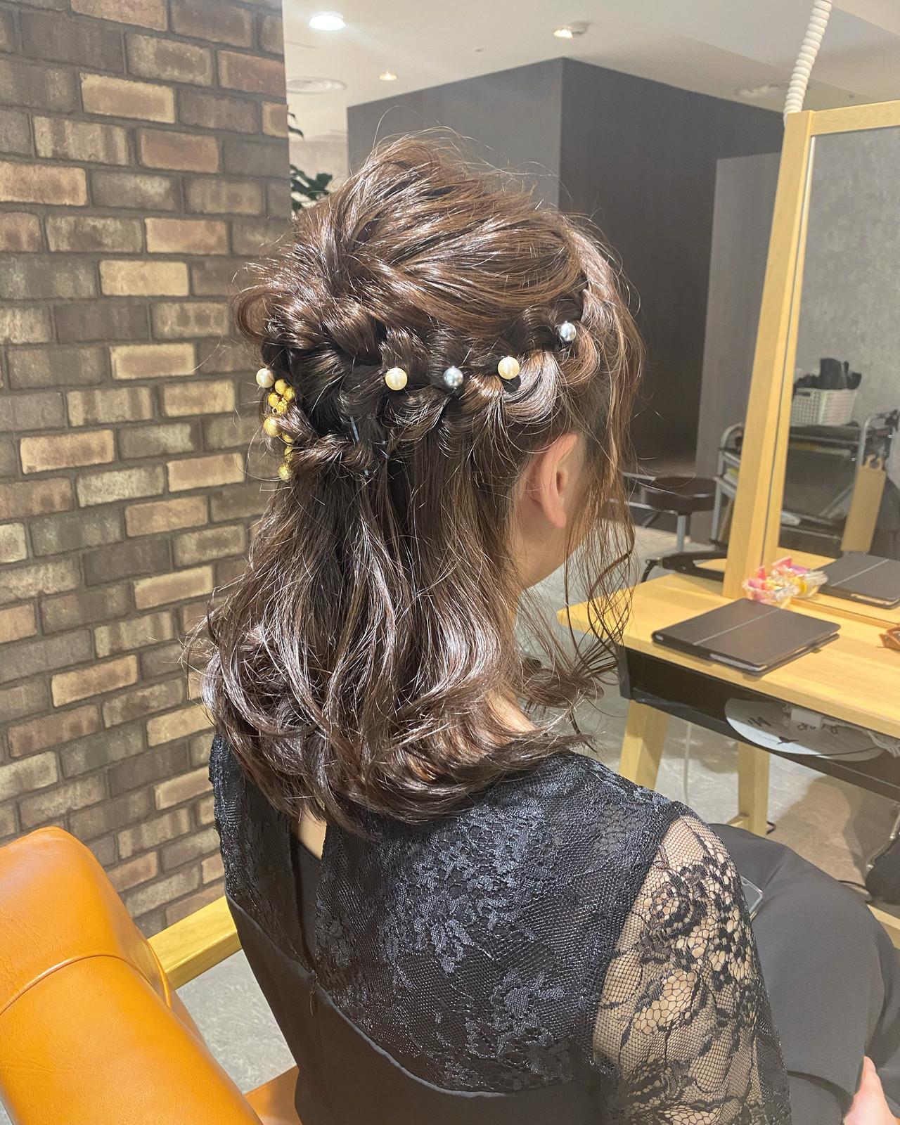 透明感カラー ナチュラル アイロンワーク ヘアアレンジ ヘアスタイルや髪型の写真・画像