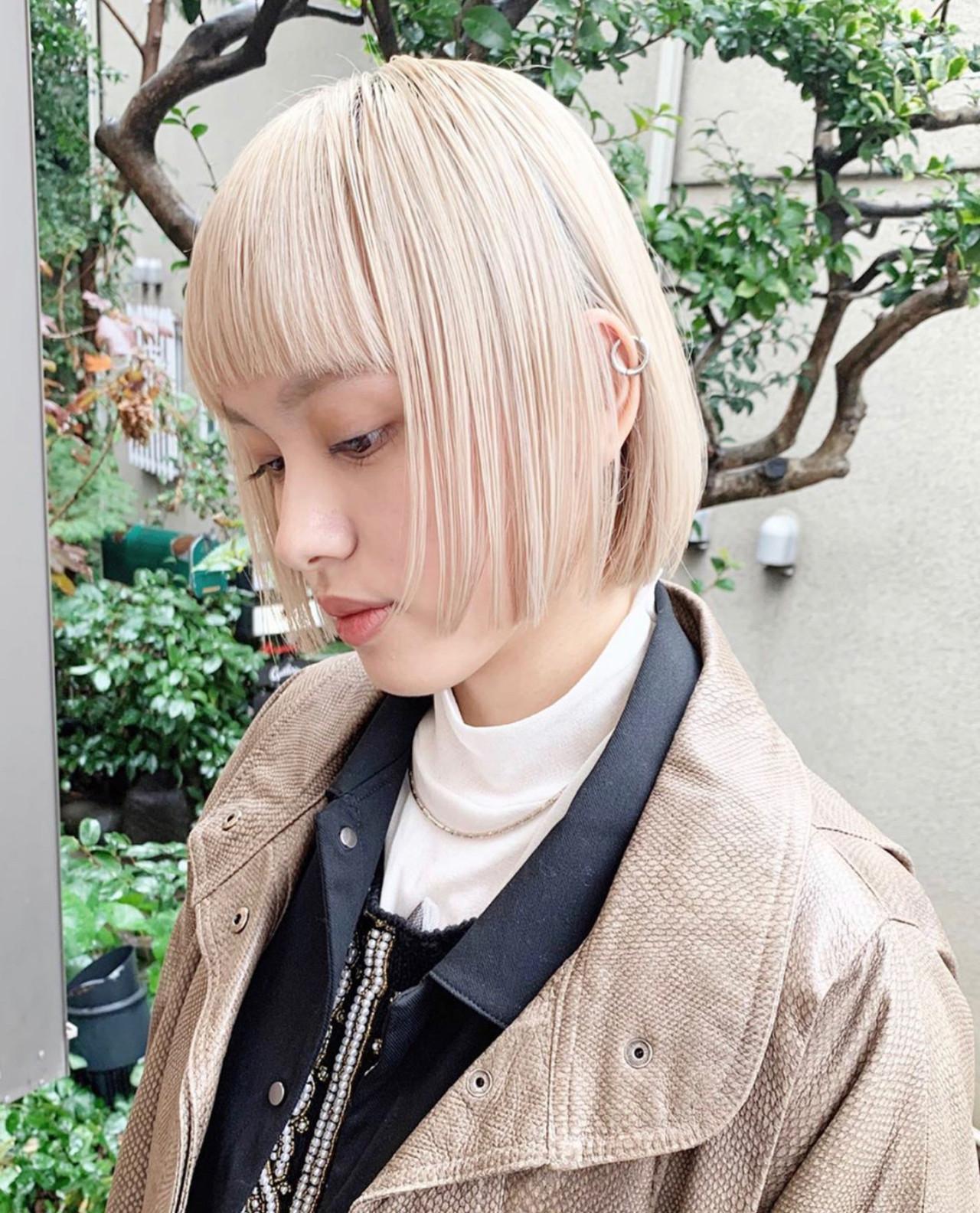 ハイトーンカラー ブロンドカラー ハイトーン ブロンド ヘアスタイルや髪型の写真・画像