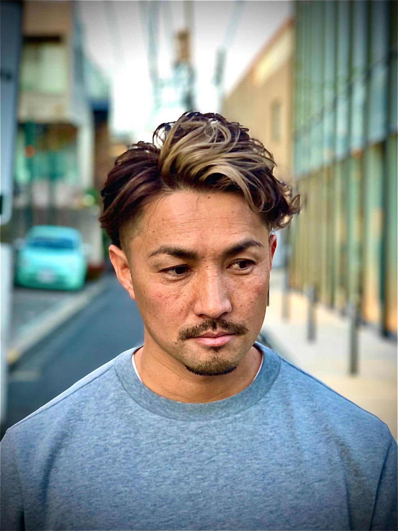 ストリート メンズパーマ メンズカラー メッシュ ヘアスタイルや髪型の写真・画像