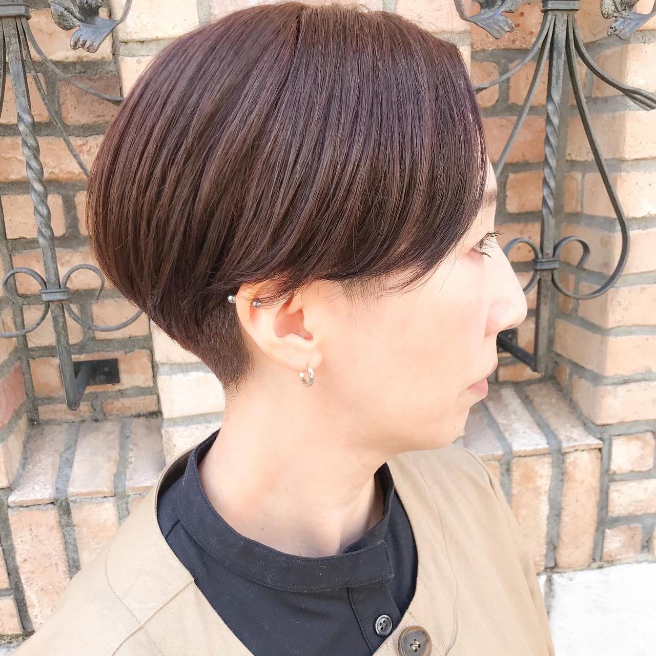 ショートヘア ベリーショート ショート 横顔美人 ヘアスタイルや髪型の写真・画像
