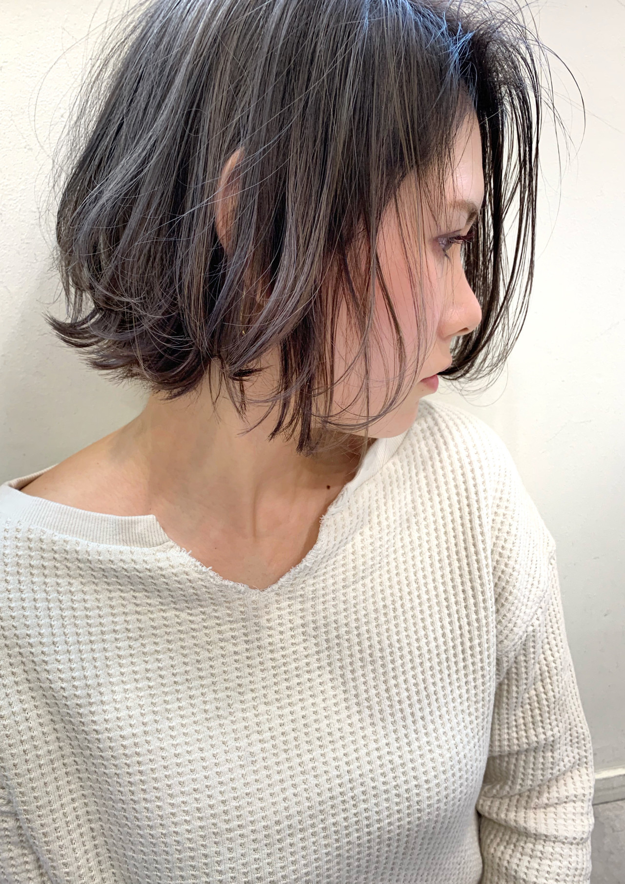 コンサバ 切りっぱなしボブ ミニボブ ショートボブ ヘアスタイルや髪型の写真・画像