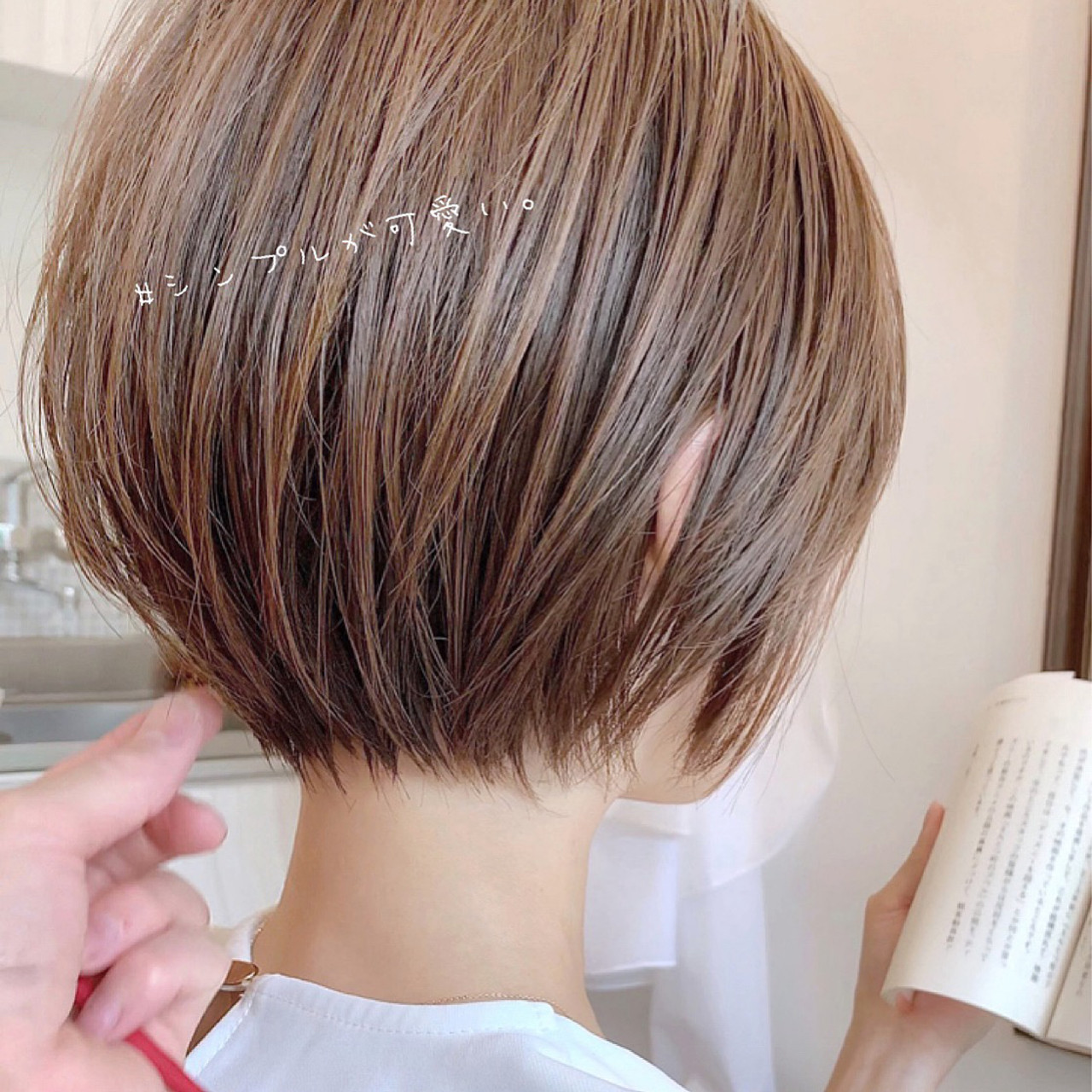 ショートボブ 大人かわいい ナチュラル ショートヘア ヘアスタイルや髪型の写真・画像