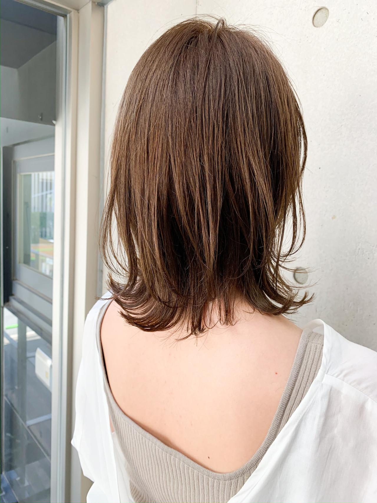 ウルフカット ワンカールパーマ ゆるふわパーマ ナチュラル ヘアスタイルや髪型の写真・画像