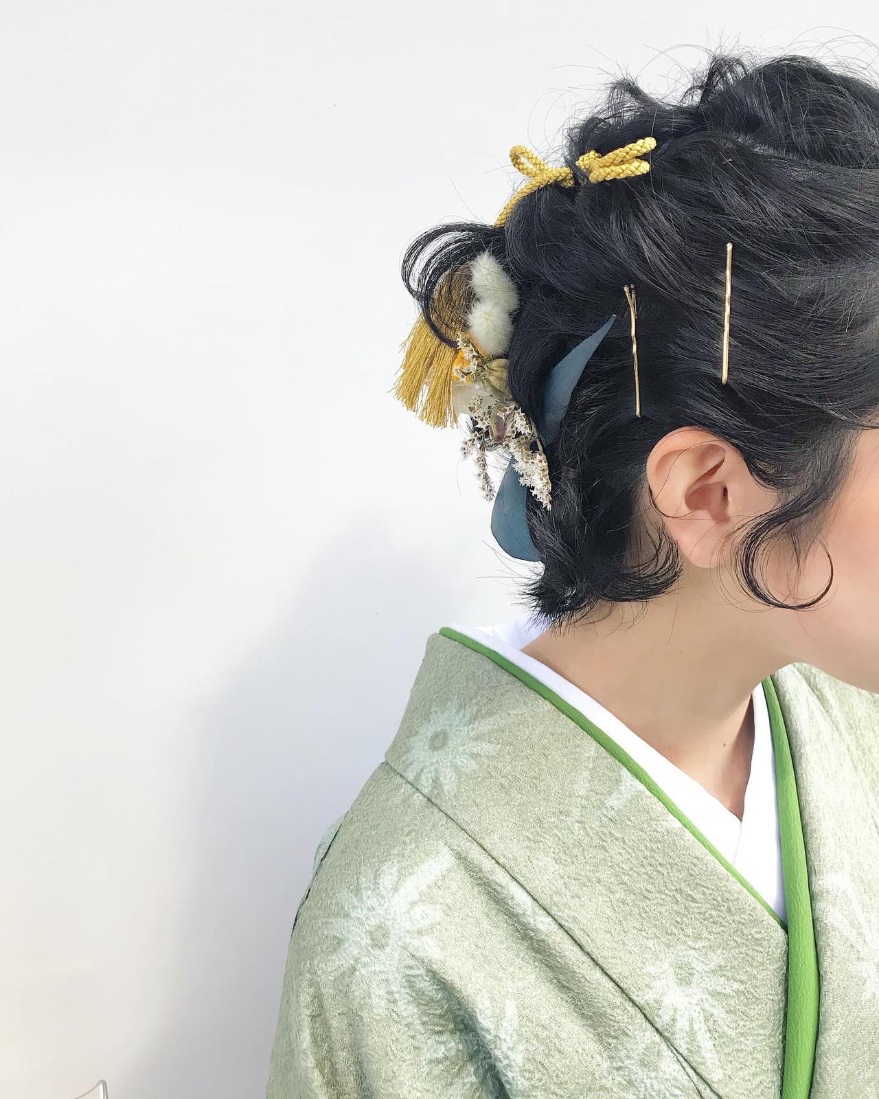 ヘアアレンジ 卒業式 ナチュラル アンニュイほつれヘア ヘアスタイルや髪型の写真・画像
