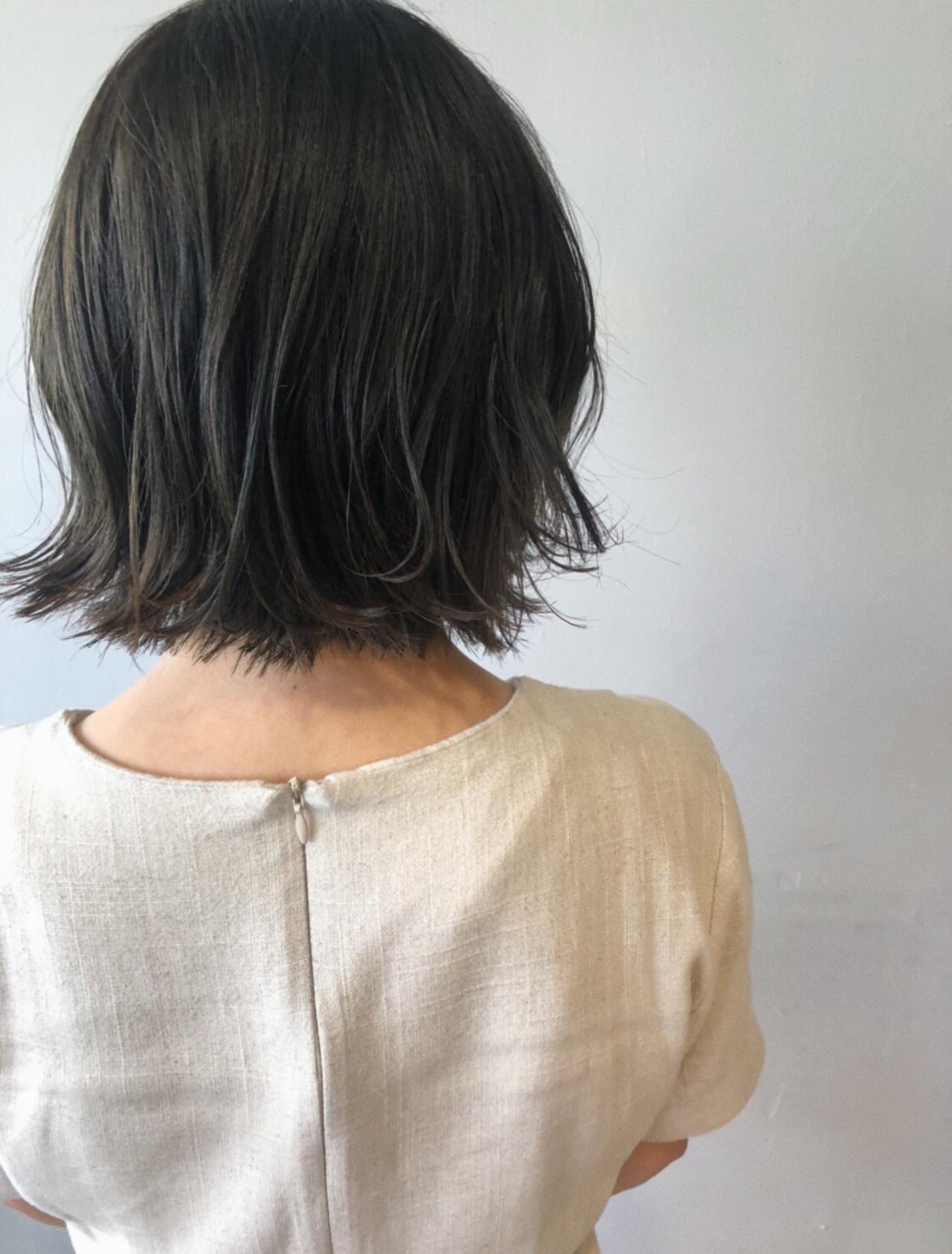 ボブ ミニボブ ショートヘア ナチュラル ヘアスタイルや髪型の写真・画像