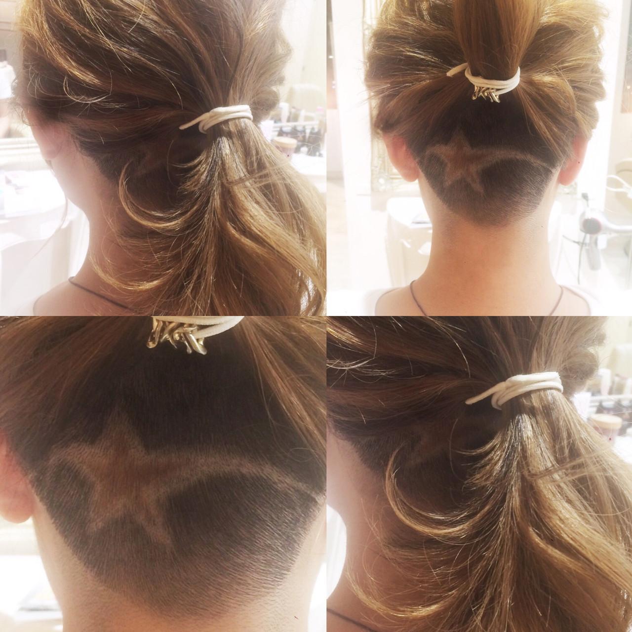 ポニーテール 刈り上げ ストリート セミロング ヘアスタイルや髪型の写真・画像