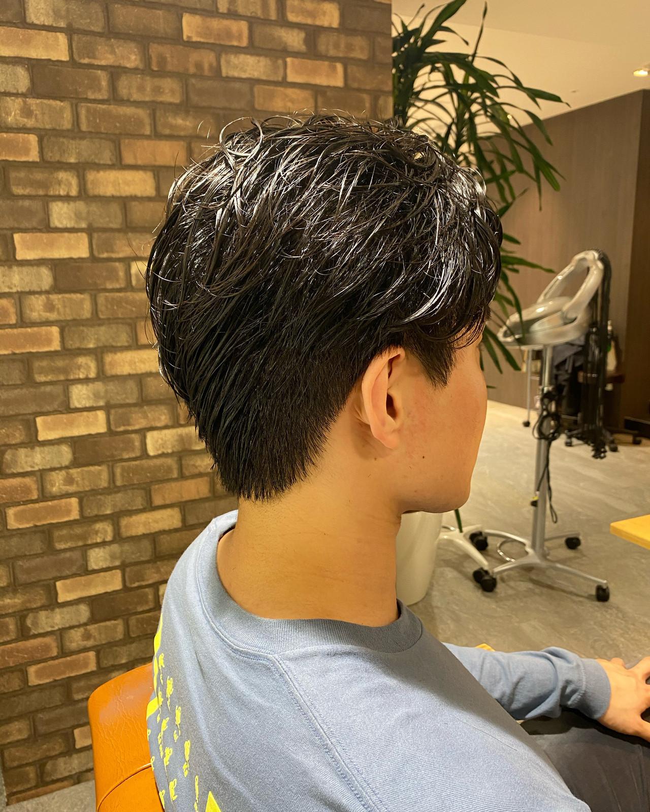 メンズ メンズショート ナチュラル スタイリング ヘアスタイルや髪型の写真・画像