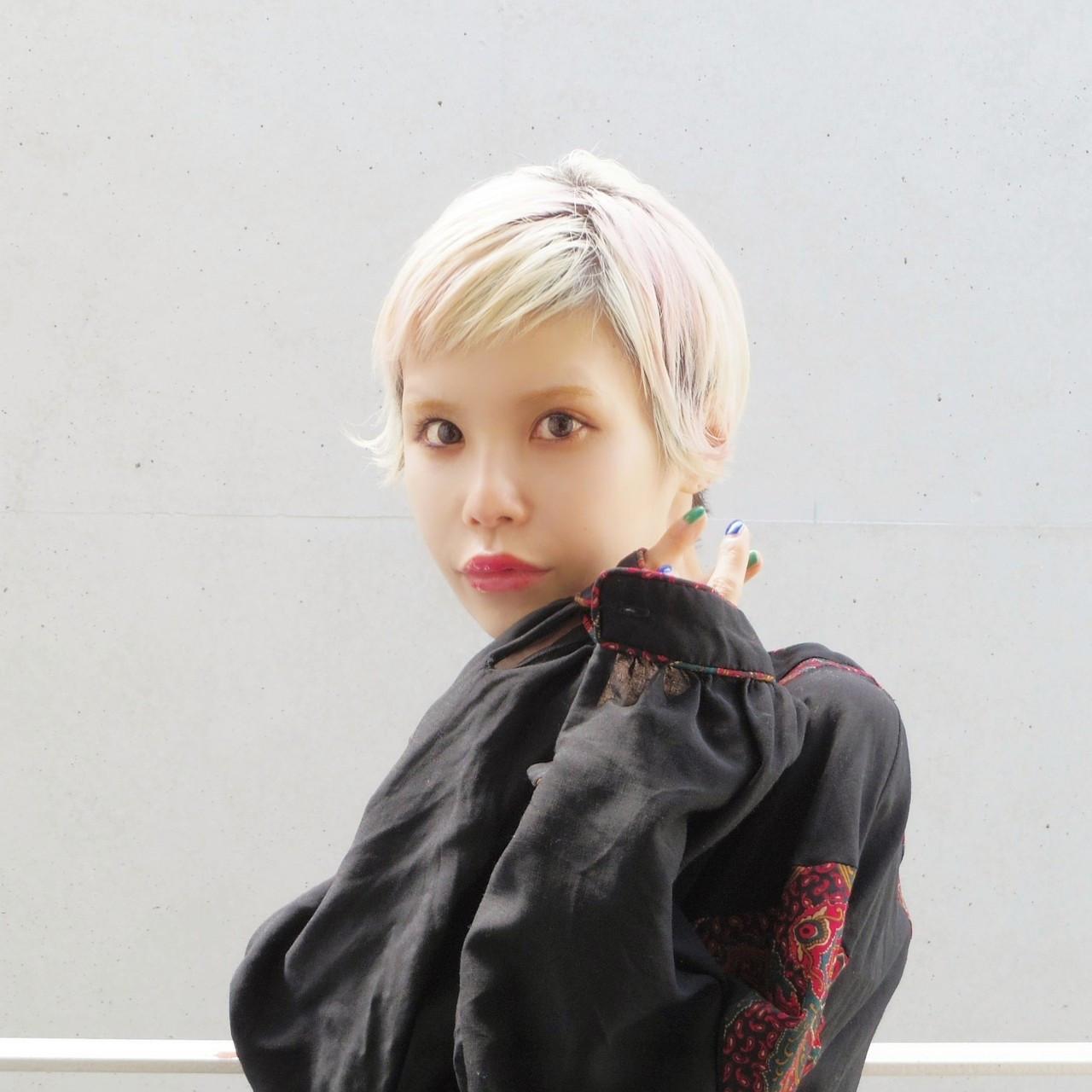 ヘアアレンジ 外国人風 ショートヘア ショート ヘアスタイルや髪型の写真・画像