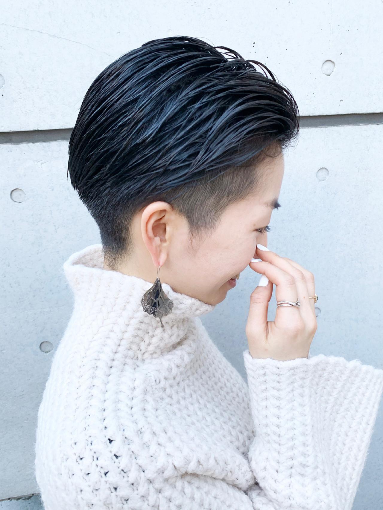 ベリーショート モード ショートヘア ショート ヘアスタイルや髪型の写真・画像