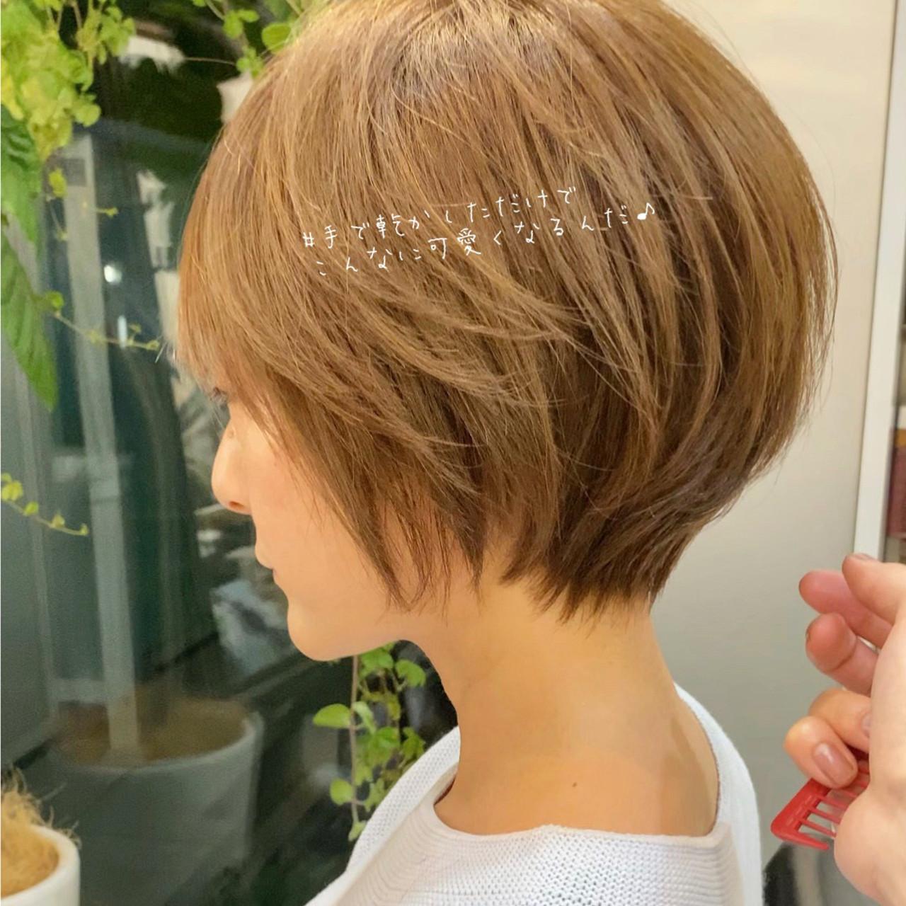 小顔ショート ショート ショートボブ アンニュイほつれヘア ヘアスタイルや髪型の写真・画像