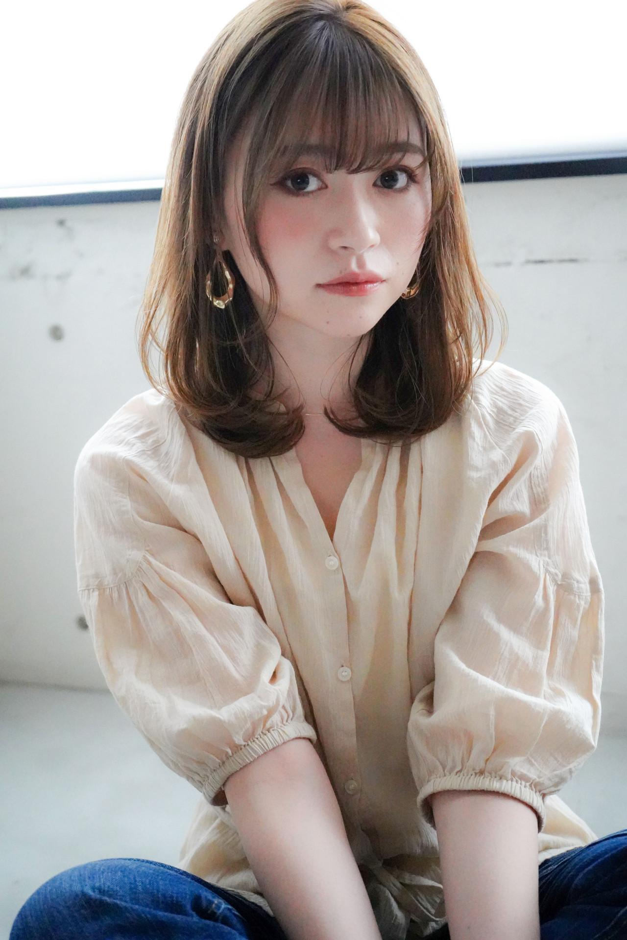ワンカール モテ髪 ミディアム アンニュイほつれヘア ヘアスタイルや髪型の写真・画像
