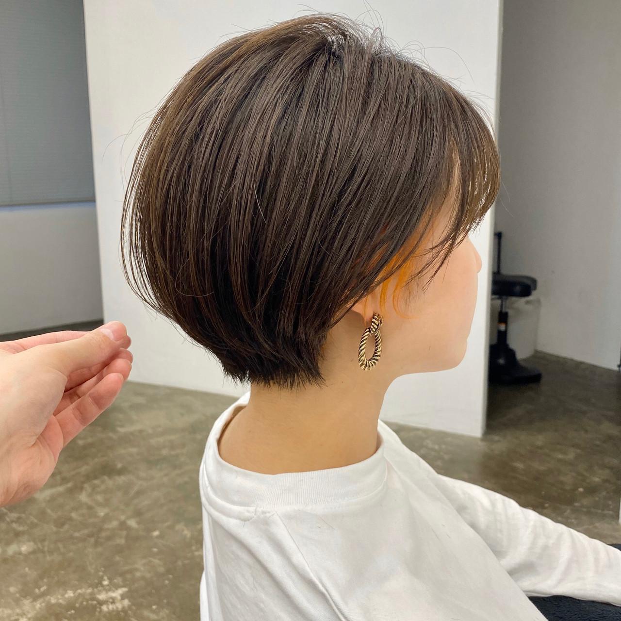 ショートヘア 大人ショート 丸みショート ナチュラル ヘアスタイルや髪型の写真・画像