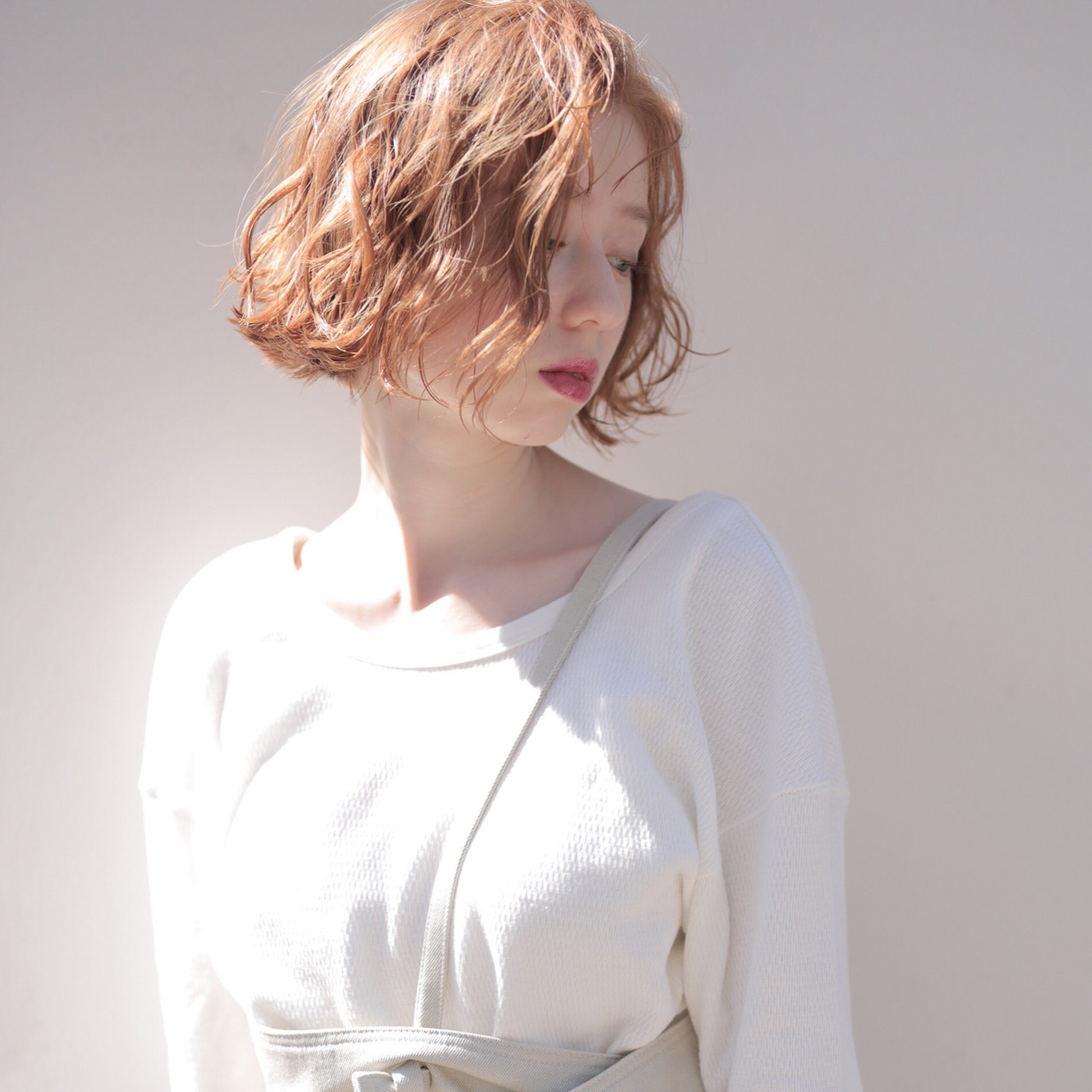 ボブ ブラウンベージュ 透明感カラー ミニボブ ヘアスタイルや髪型の写真・画像