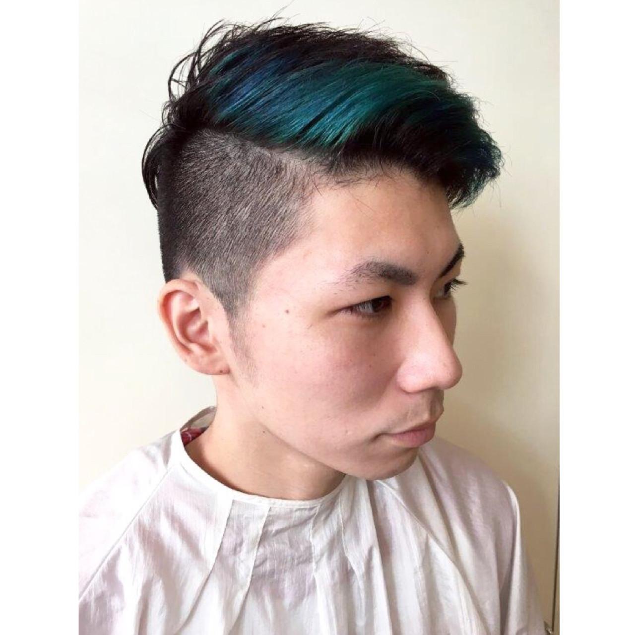 ショート 黒髪 ストリート ダブルカラー ヘアスタイルや髪型の写真・画像
