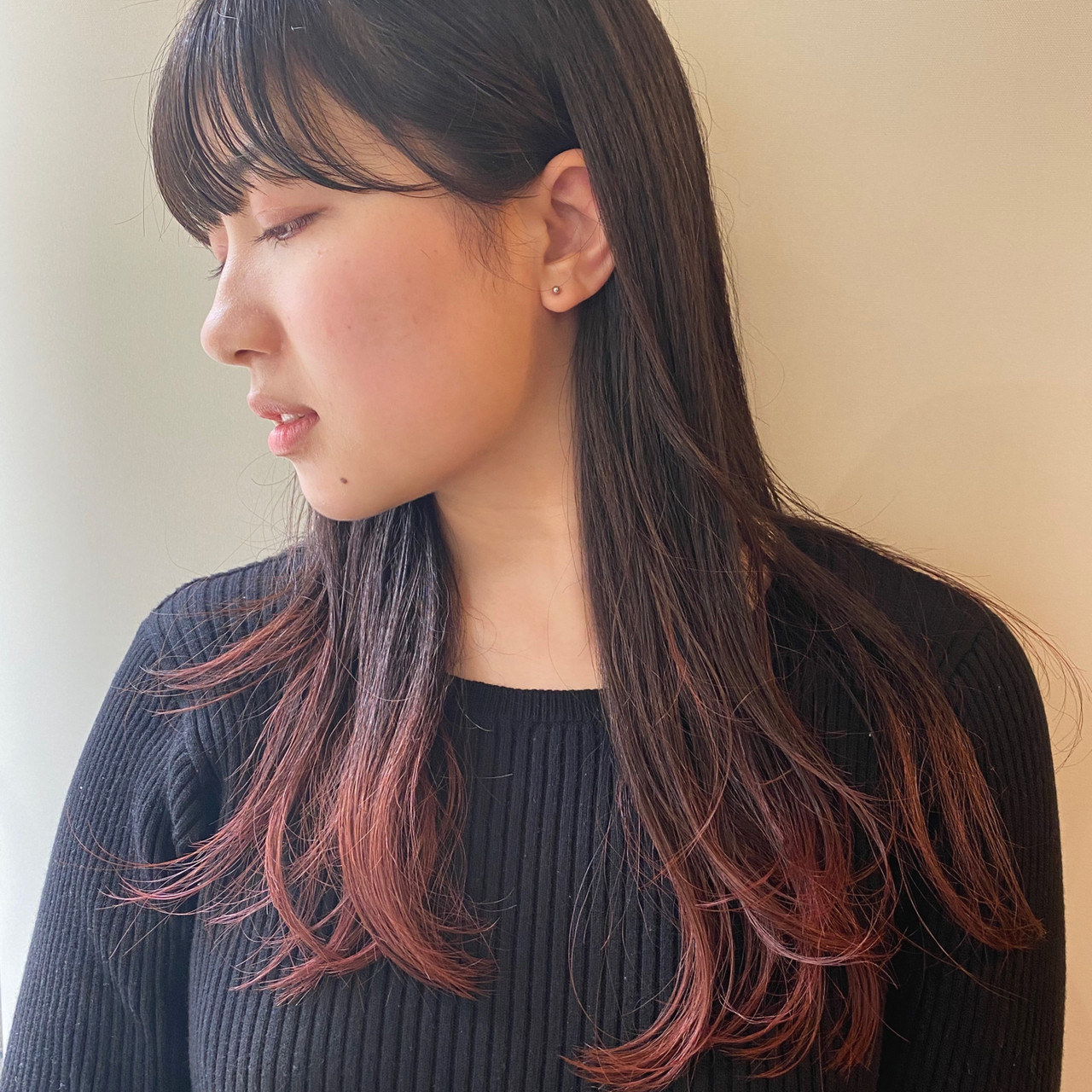 モード グラデーションカラー グラデーション インナーカラー ヘアスタイルや髪型の写真・画像