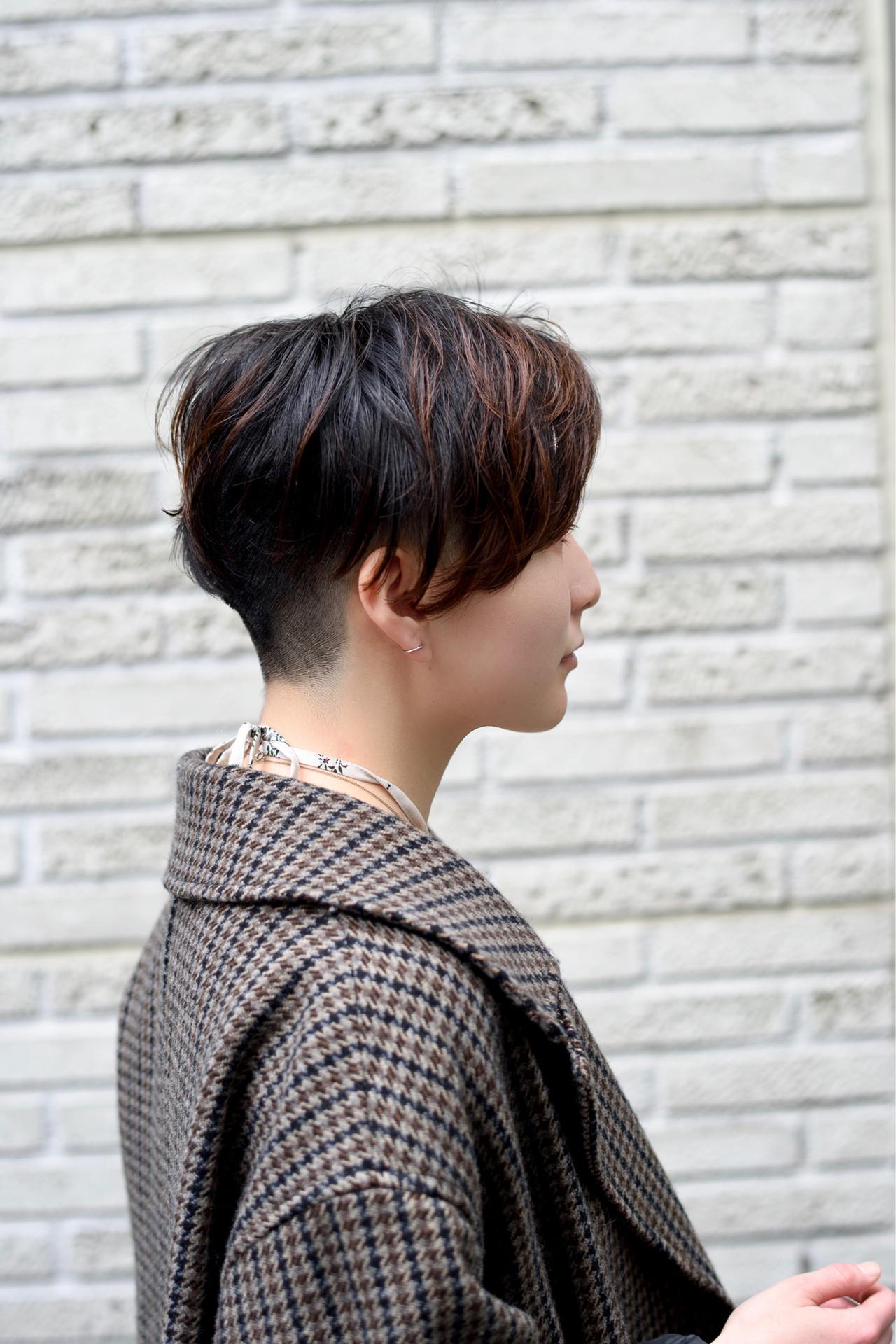 ツーブロック ショート 外国人風 モード ヘアスタイルや髪型の写真・画像