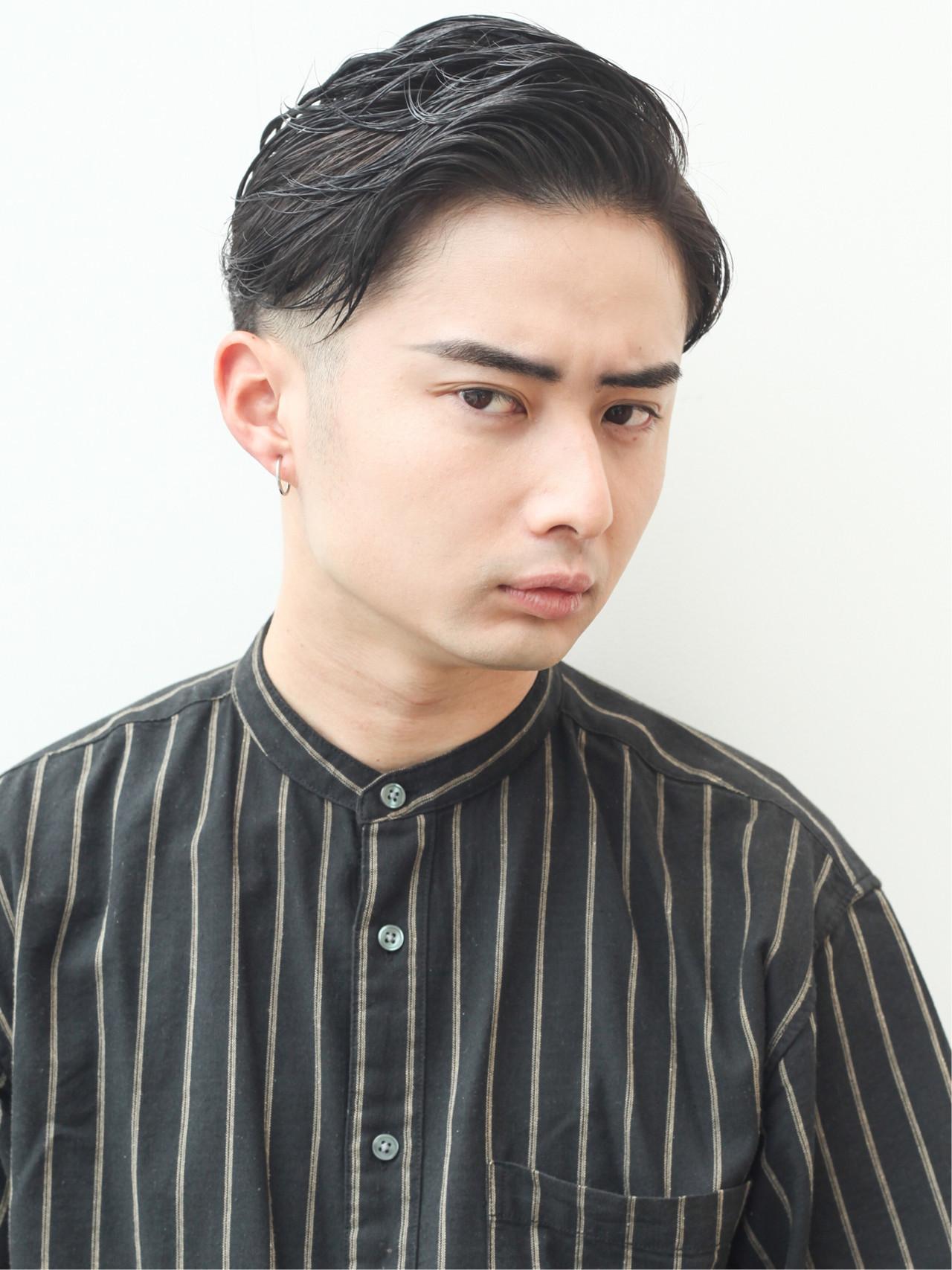 ナチュラル メンズ スキンフェード 黒髪 ヘアスタイルや髪型の写真・画像