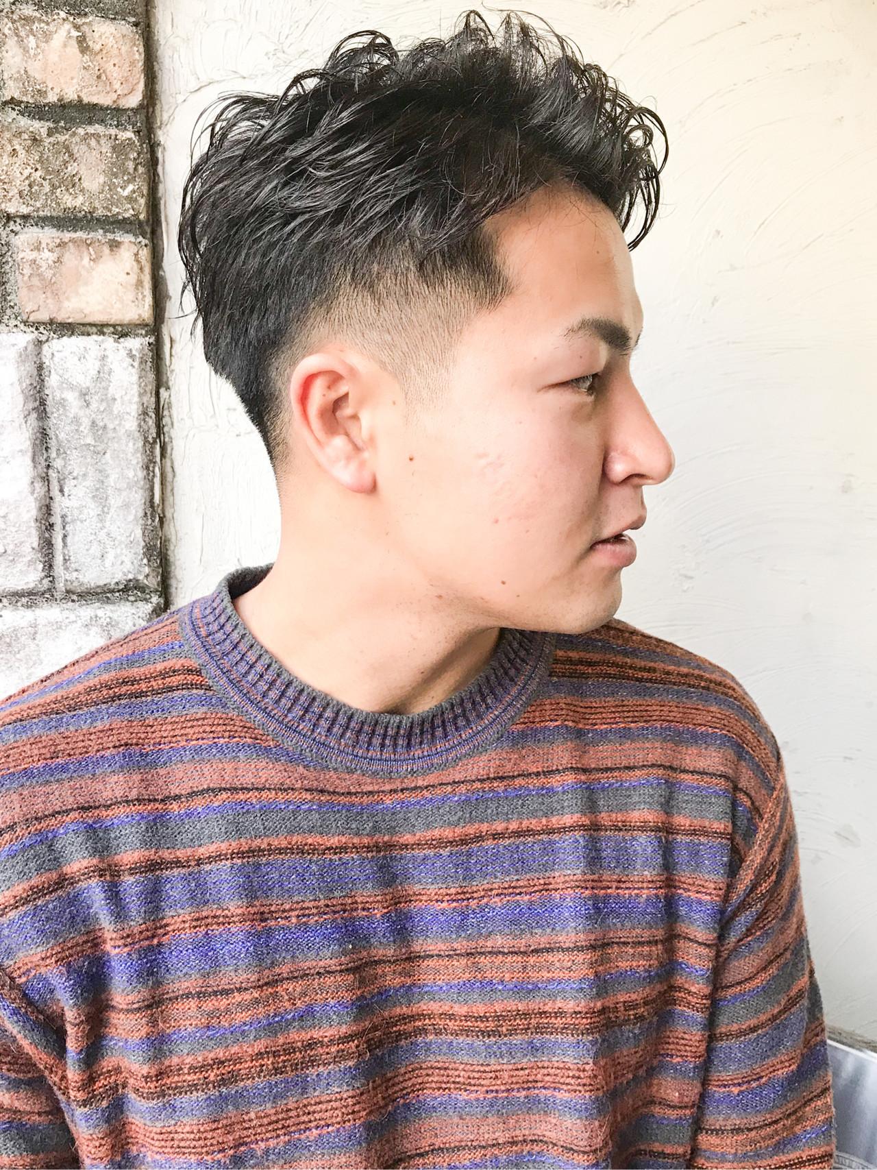 メンズカット 刈り上げショート フェードカット メンズ ヘアスタイルや髪型の写真・画像
