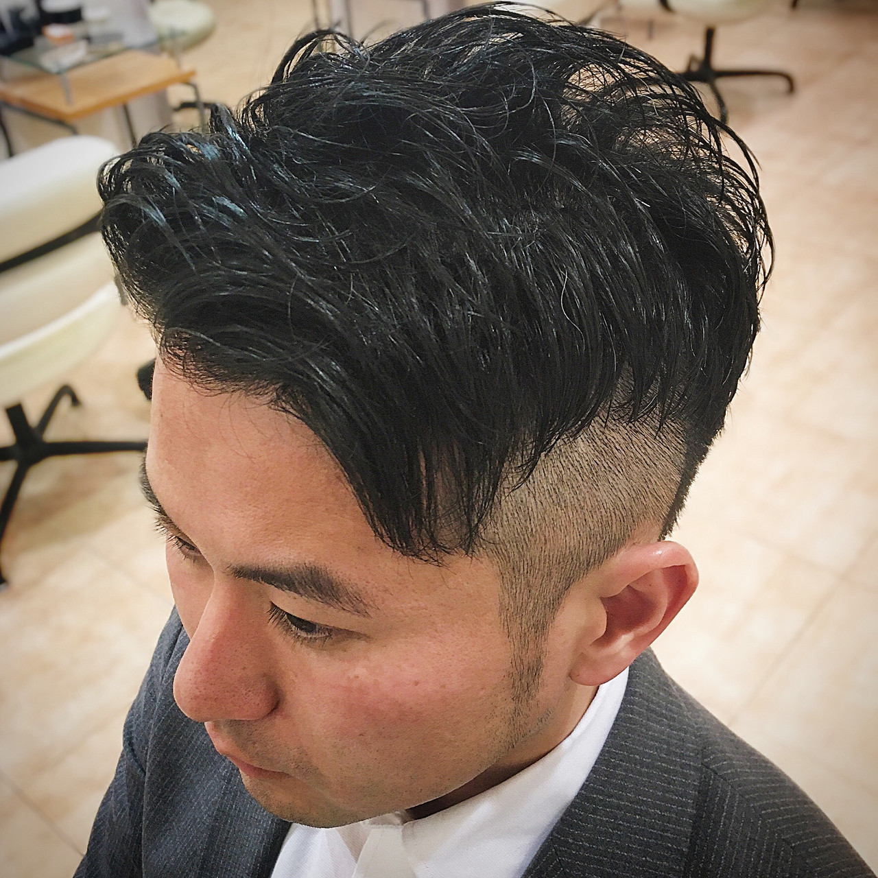 ツーブロック コンサバ ショート 刈り上げ ヘアスタイルや髪型の写真・画像