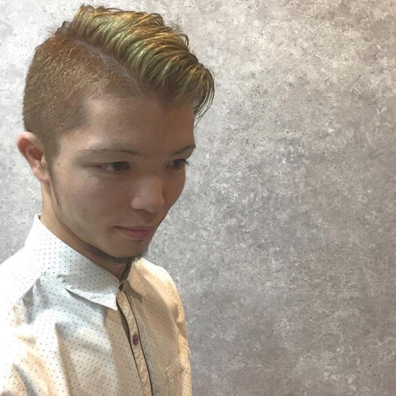 メンズ 外国人風 外国人風カラー ブリーチ ヘアスタイルや髪型の写真・画像