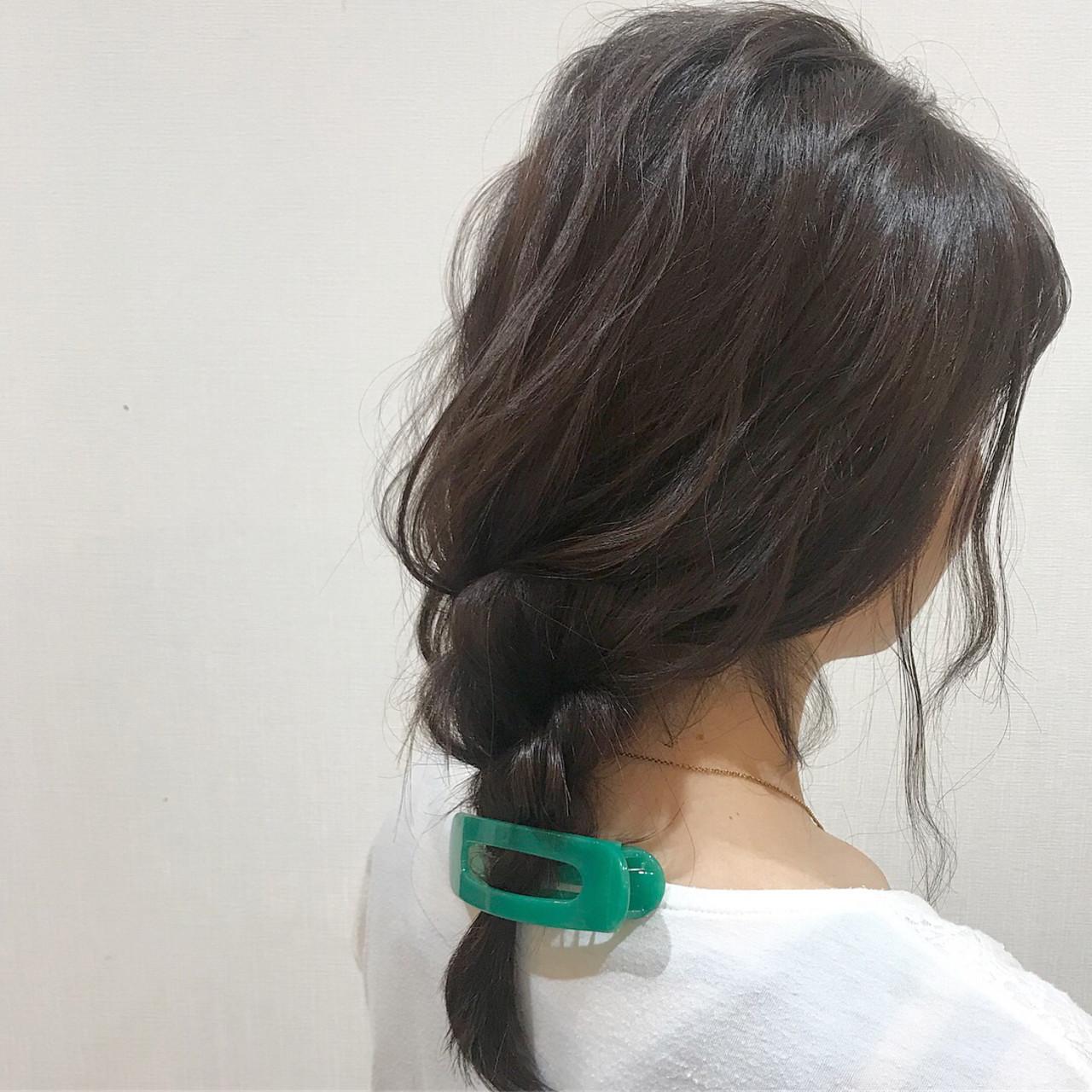 簡単ヘアアレンジ ヘアアレンジ 三つ編み ガーリー ヘアスタイルや髪型の写真・画像