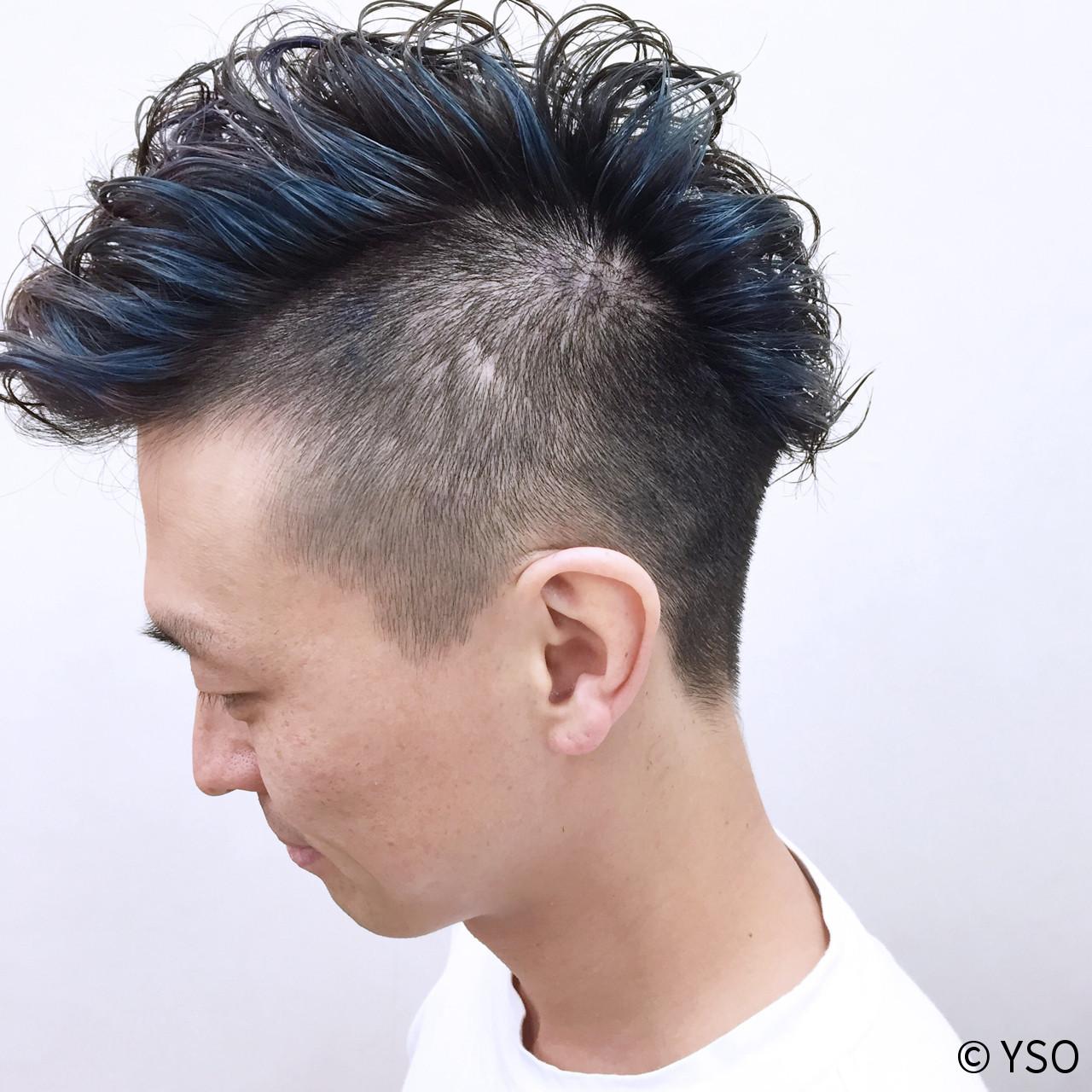 ショート メンズ モード 刈り上げ ヘアスタイルや髪型の写真・画像