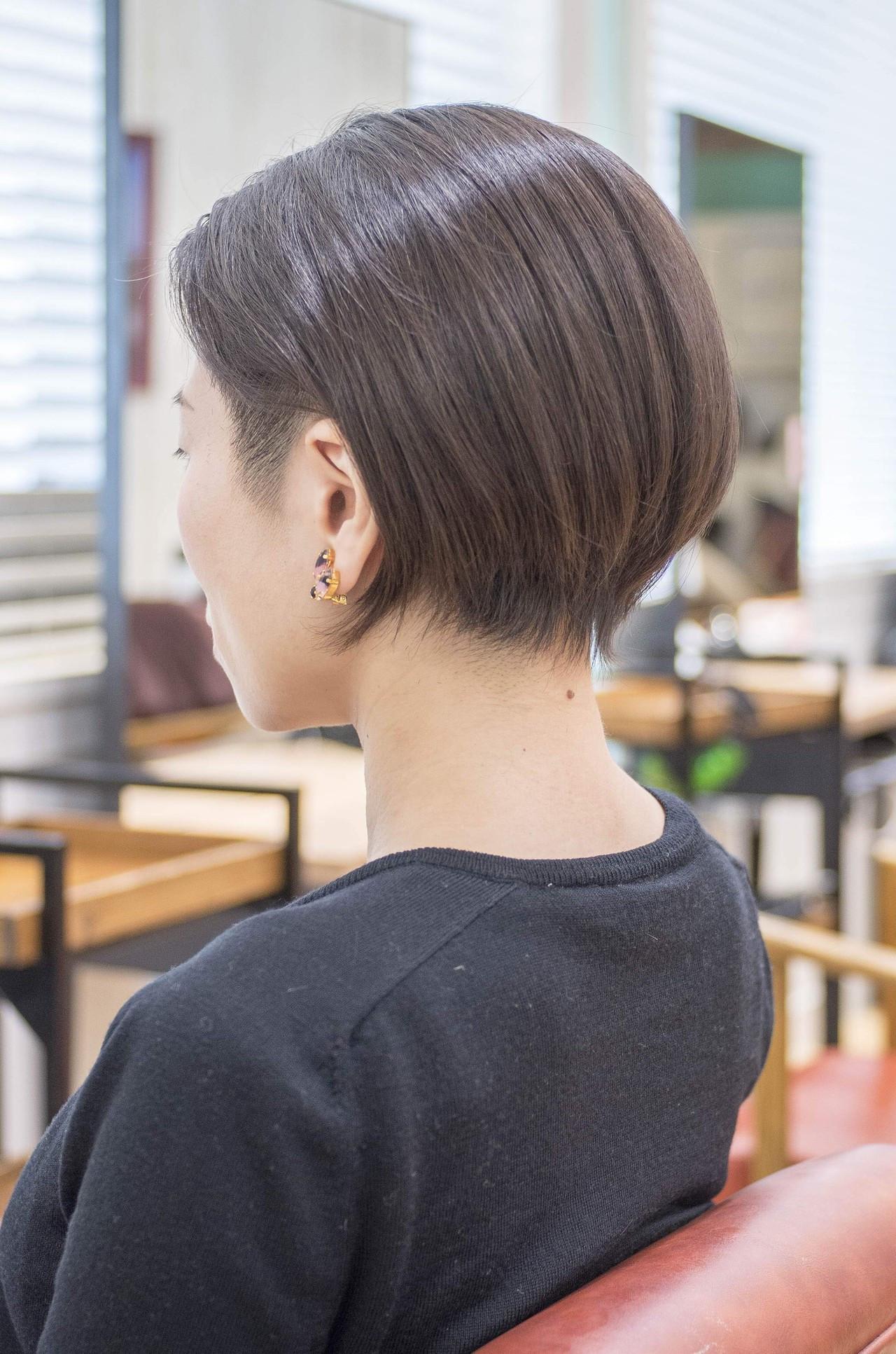 ツーブロック ショートヘア ショートボブ ボブ ヘアスタイルや髪型の写真・画像