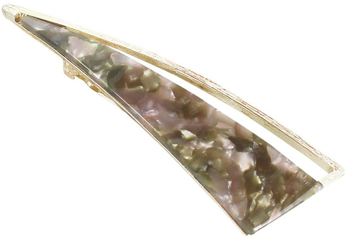 (Junkun) バレッタ 大きい 三角 アセチ素材