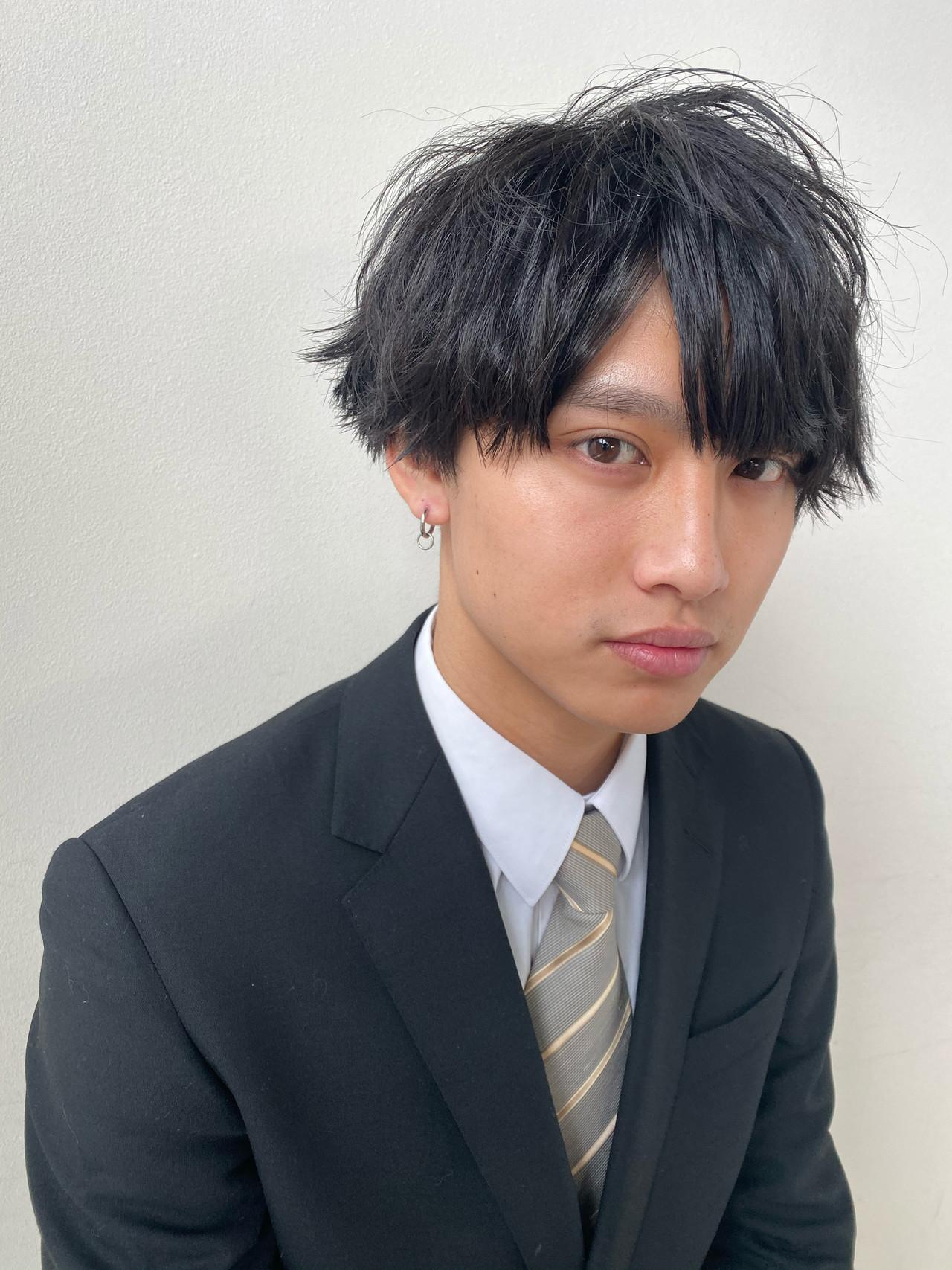 メンズカット メンズヘア メンズパーマ ナチュラル ヘアスタイルや髪型の写真・画像