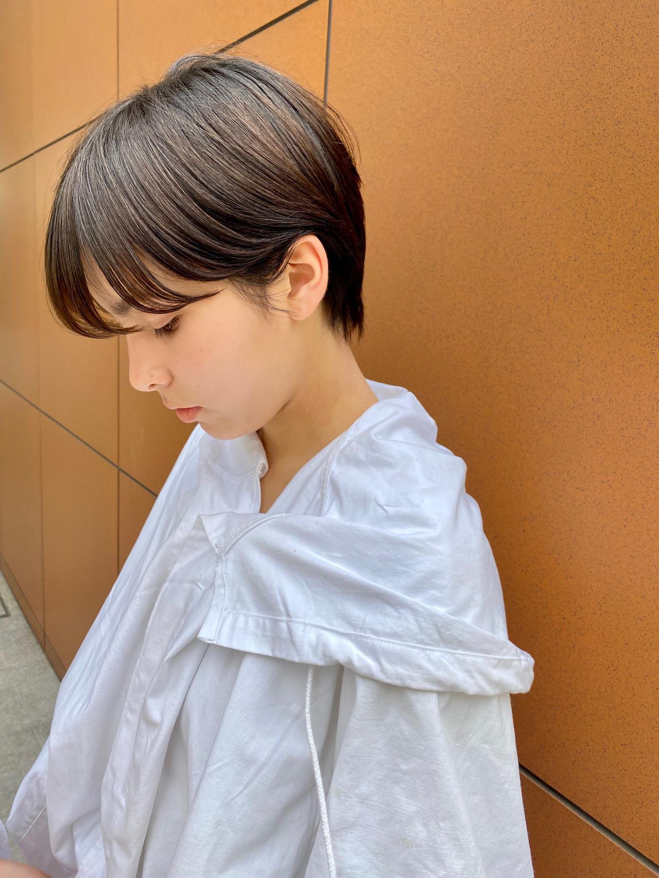 ベリーショート ショート 大人ショート ナチュラル ヘアスタイルや髪型の写真・画像