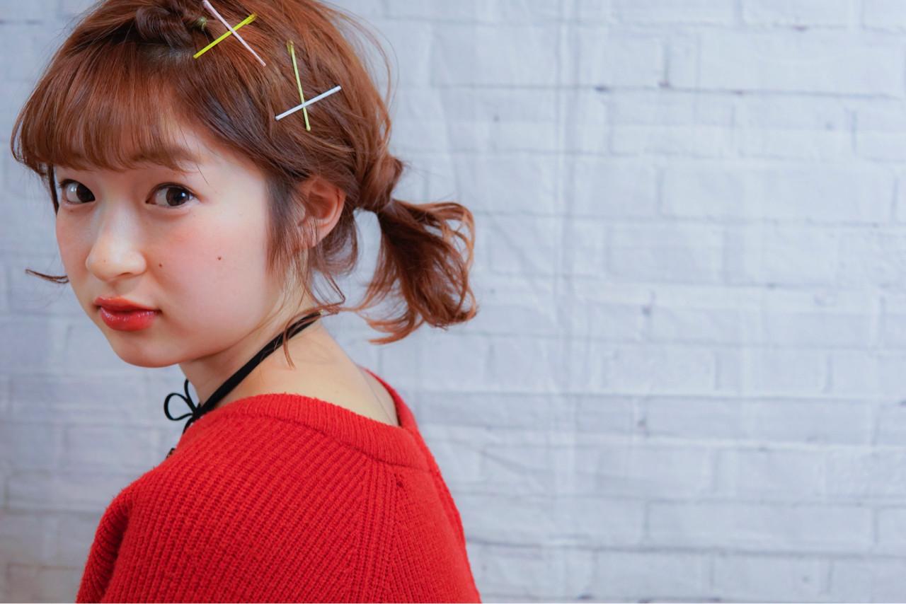 簡単ヘアアレンジ ヘアピン ボブ 大人女子 ヘアスタイルや髪型の写真・画像