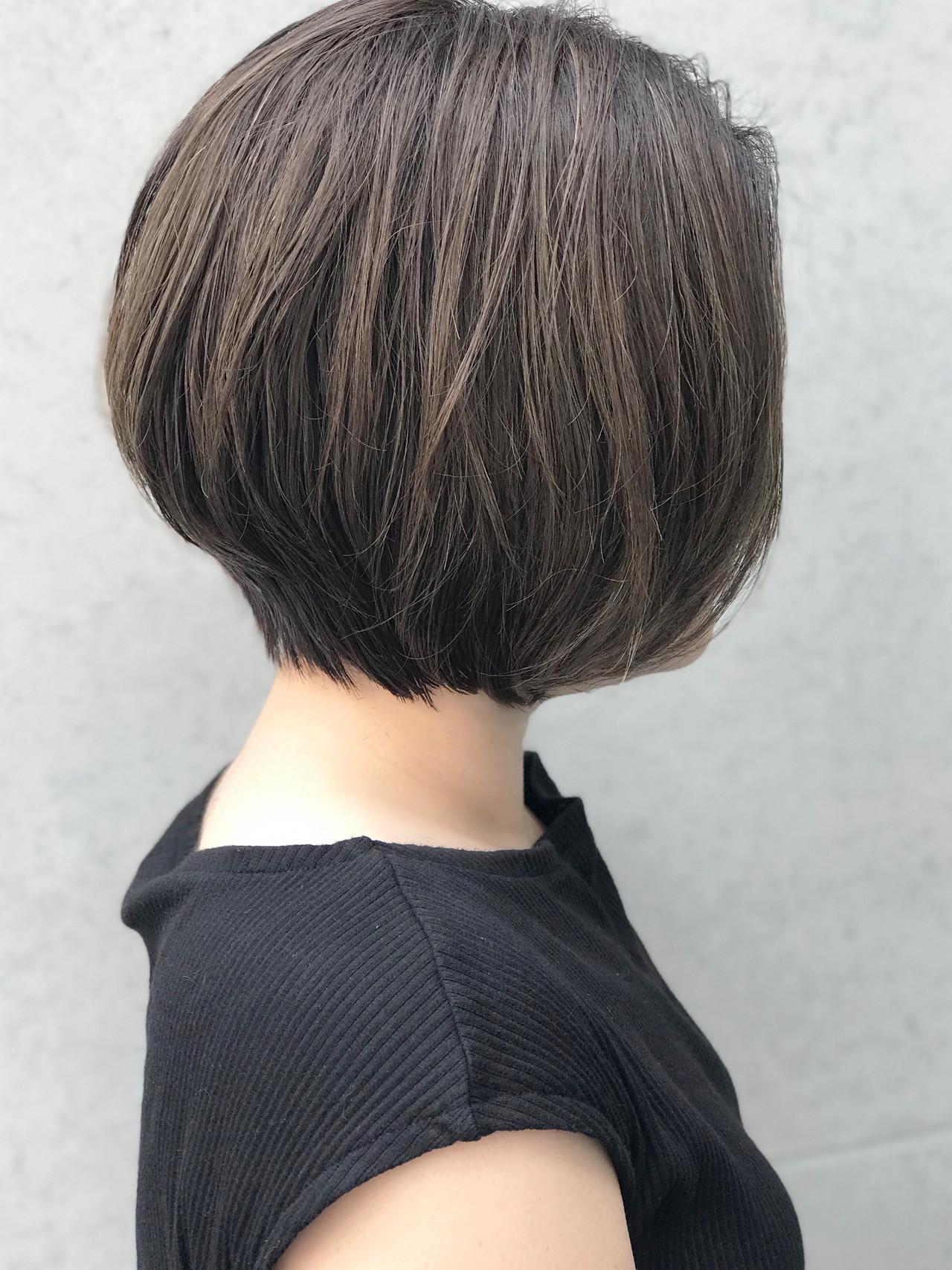 ショートボブ 前下がりボブ ショートヘア ボブ ヘアスタイルや髪型の写真・画像