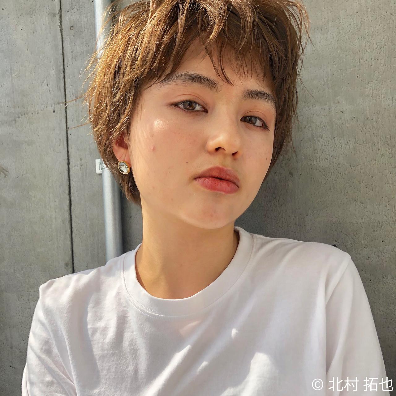 アンニュイ ショートヘア 透明感カラー ストリート ヘアスタイルや髪型の写真・画像