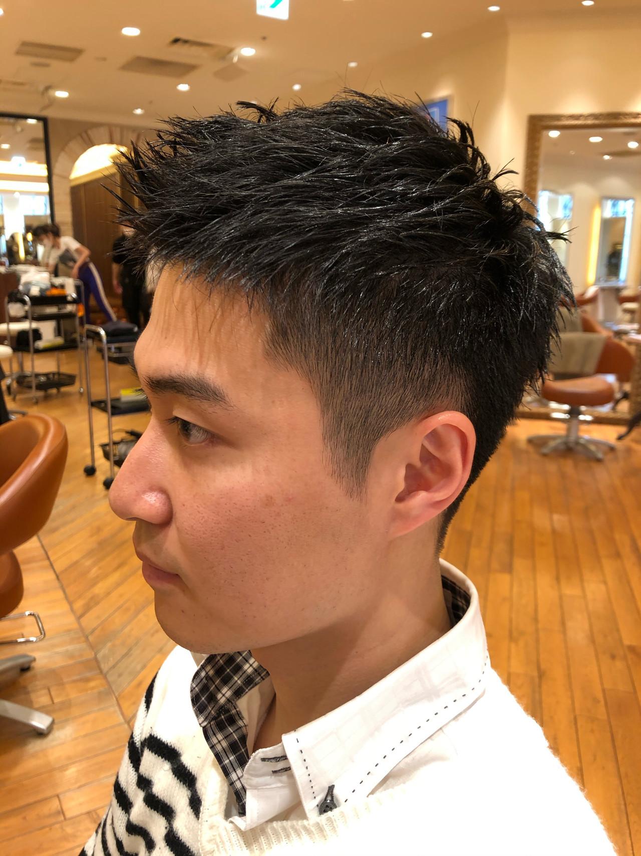 爽やか 刈り上げ ナチュラル メンズ ヘアスタイルや髪型の写真・画像