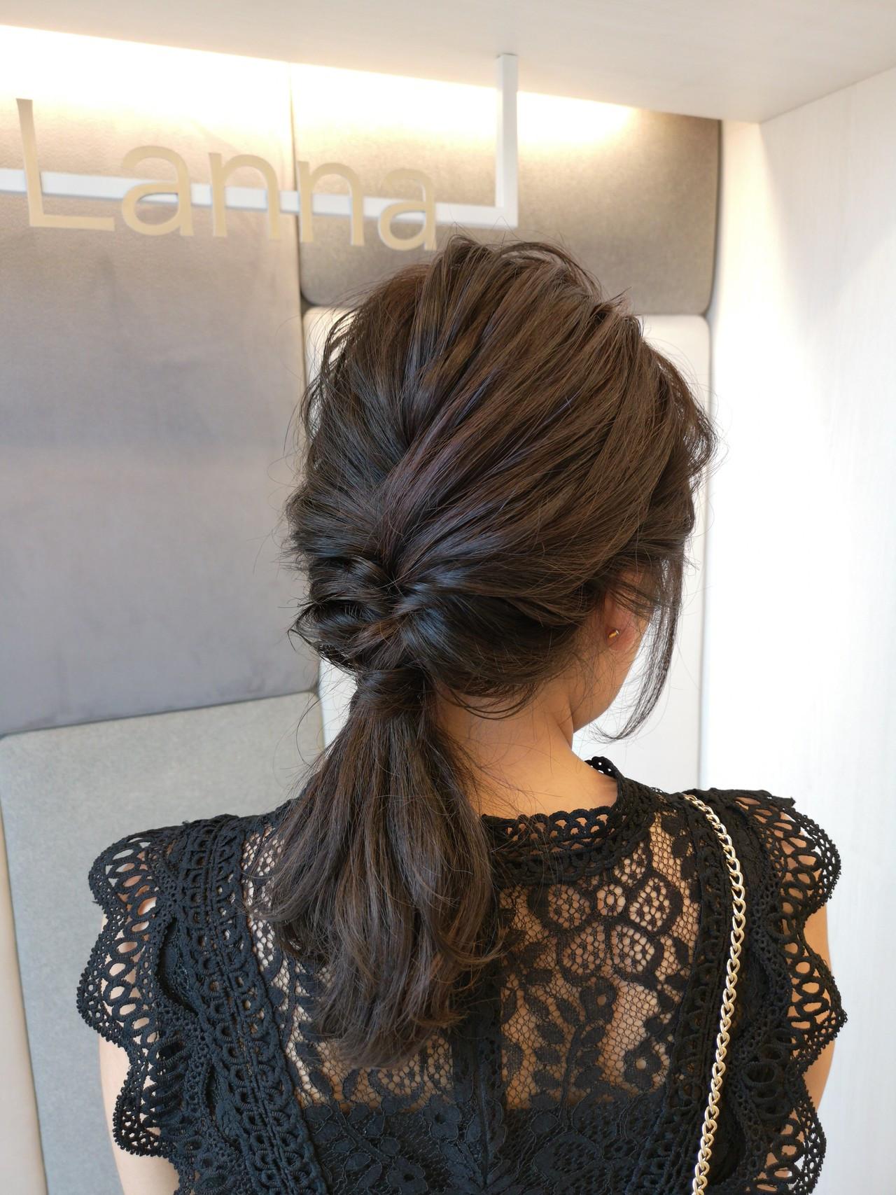 簡単ヘアアレンジ フェミニン デート ヘアアレンジ ヘアスタイルや髪型の写真・画像