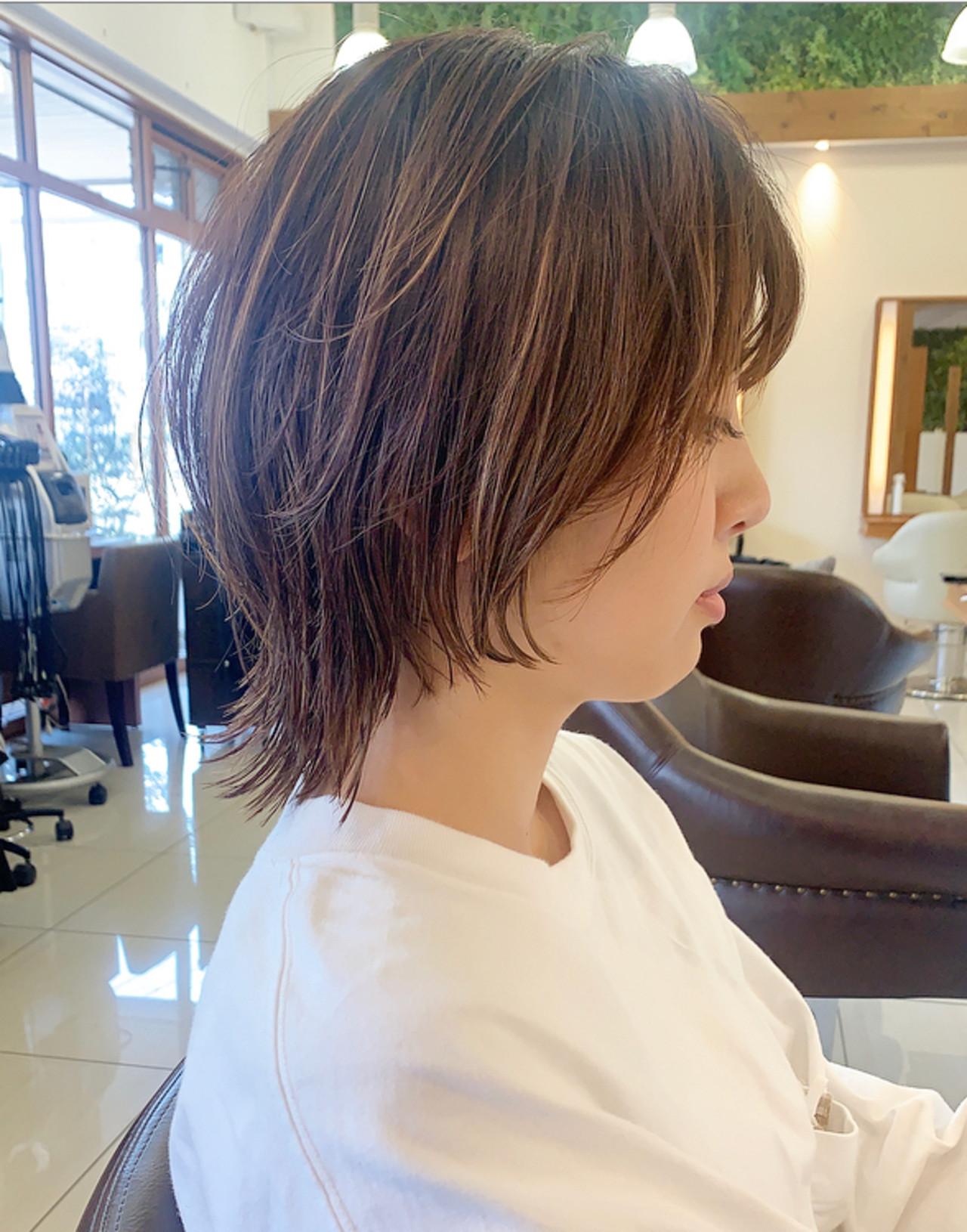 ショート ウルフカット ふんわり ウルフ女子 ヘアスタイルや髪型の写真・画像