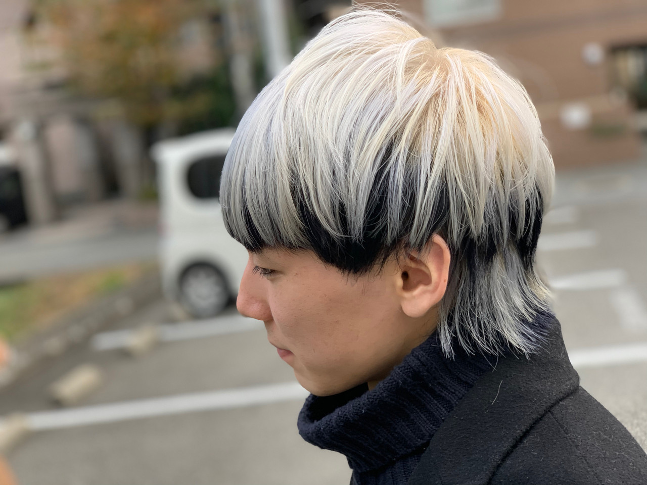 ショート デザインカラー ブリーチカラー ホワイト ヘアスタイルや髪型の写真・画像
