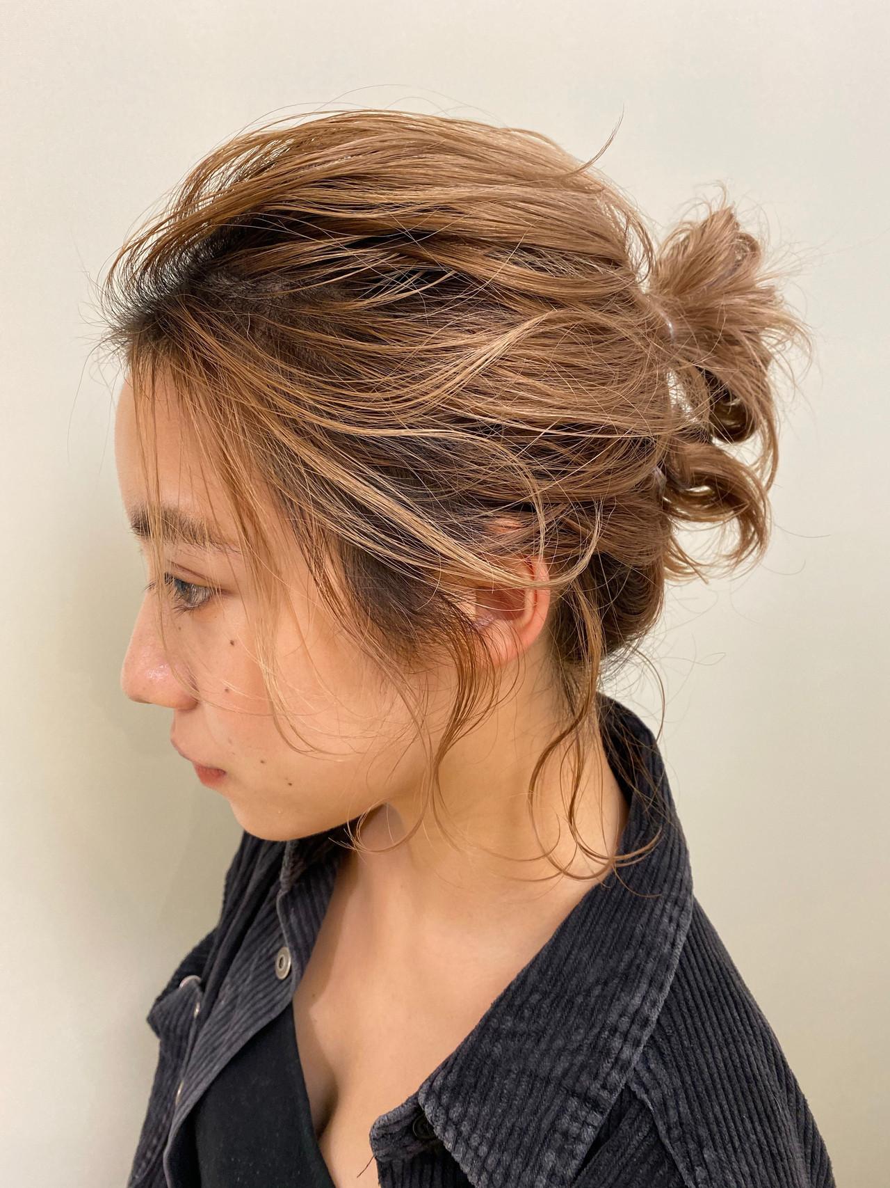 ナチュラル ミニボブ 簡単ヘアアレンジ ヘアアレンジ ヘアスタイルや髪型の写真・画像