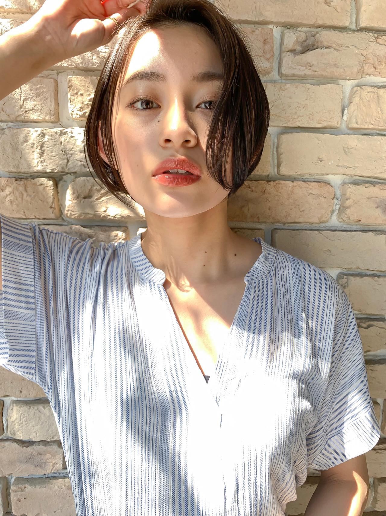 コスメ・メイク オフィス ナチュラル ボブ ヘアスタイルや髪型の写真・画像