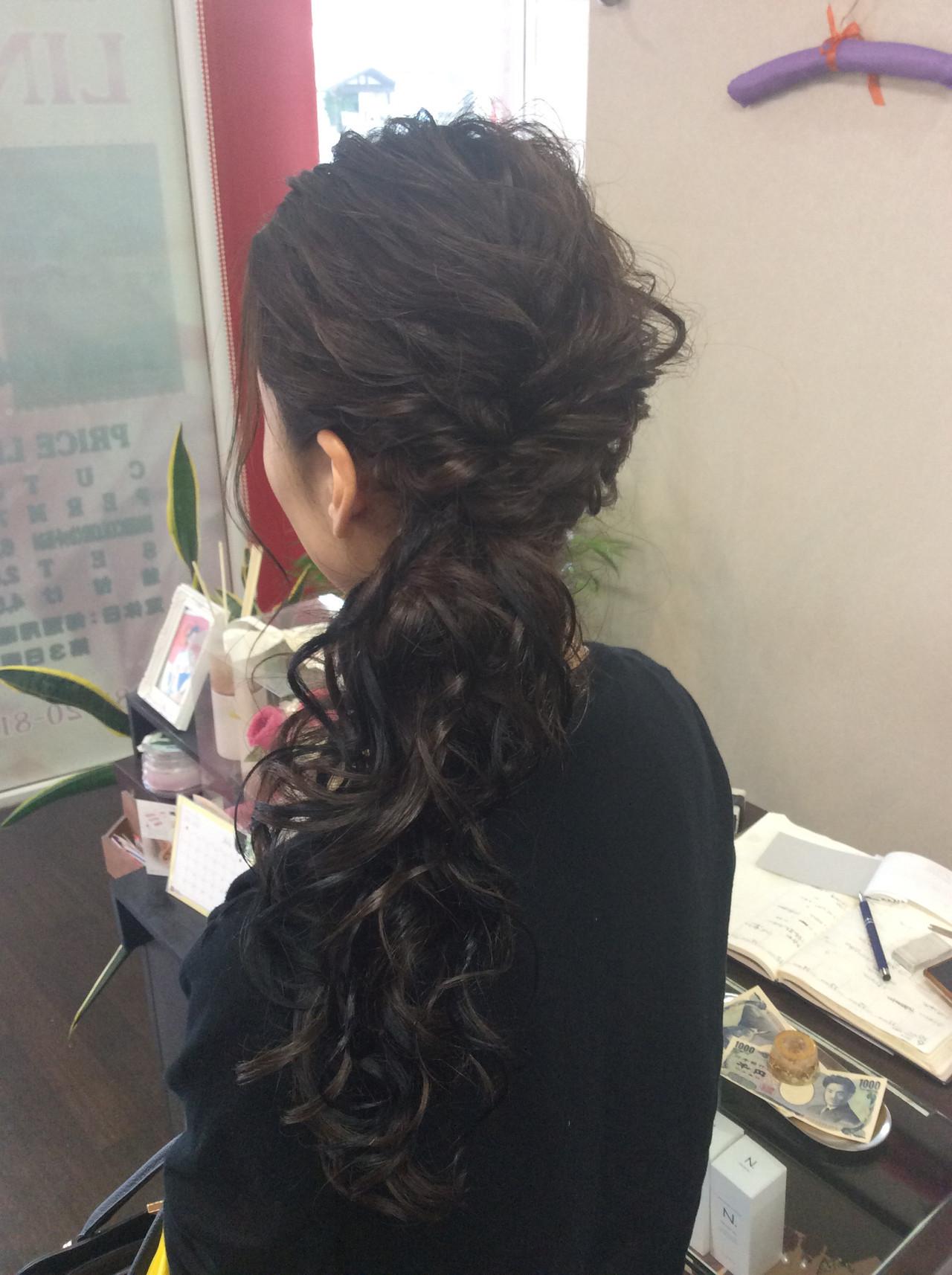 簡単ヘアアレンジ ナチュラル ヘアアレンジ 編み込みヘア ヘアスタイルや髪型の写真・画像