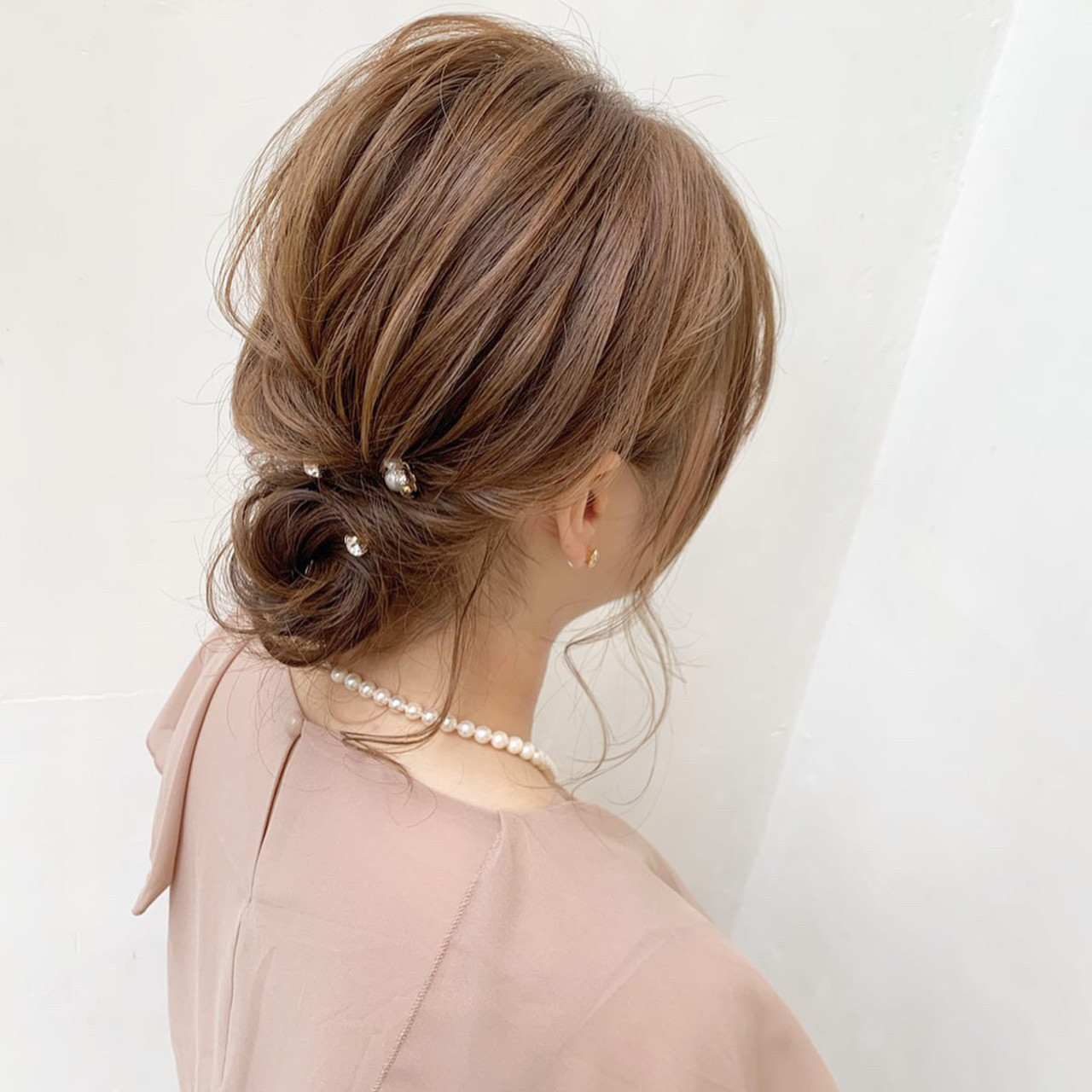 大人可愛い まとめ髪 結婚式ヘアアレンジ ヘアアレンジ ヘアスタイルや髪型の写真・画像