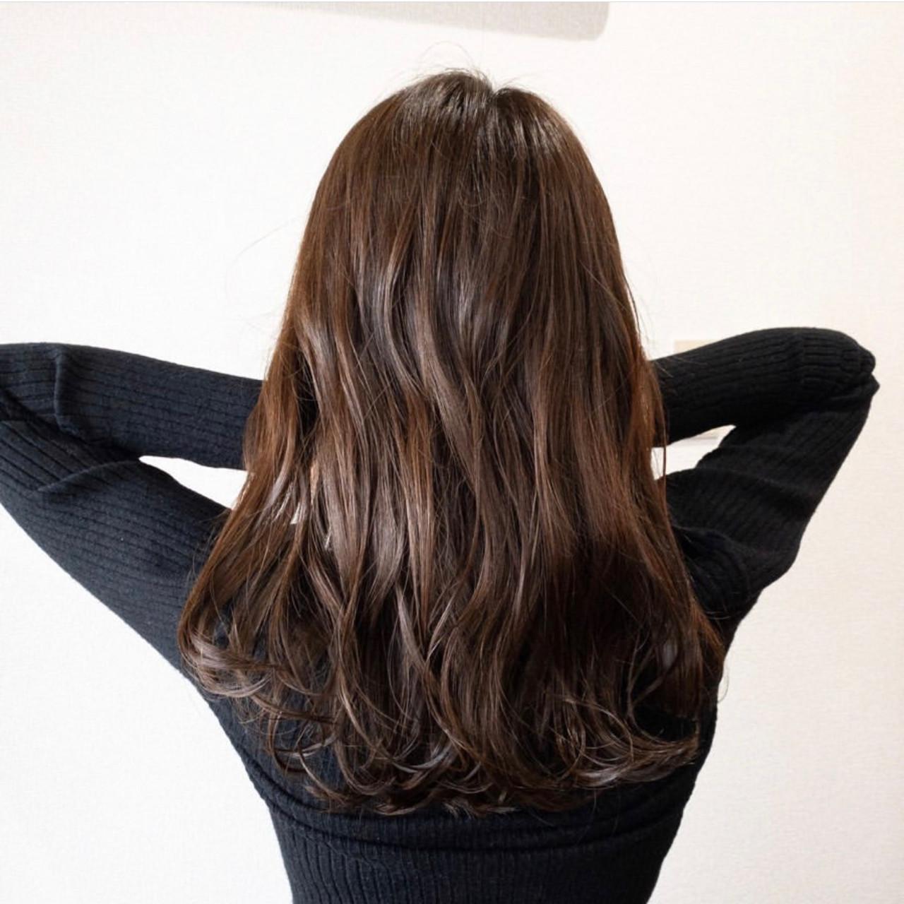 ブラウンベージュ ブラウン ナチュラル ロング ヘアスタイルや髪型の写真・画像