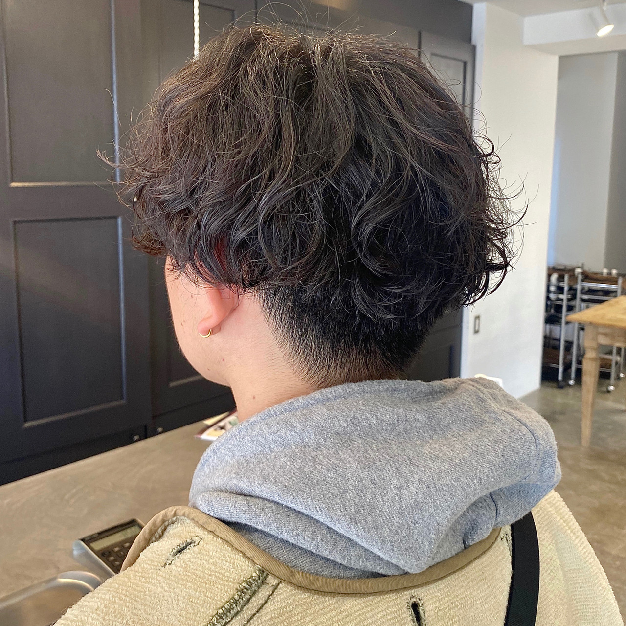 メンズパーマ ショート メンズショート メンズカット ヘアスタイルや髪型の写真・画像