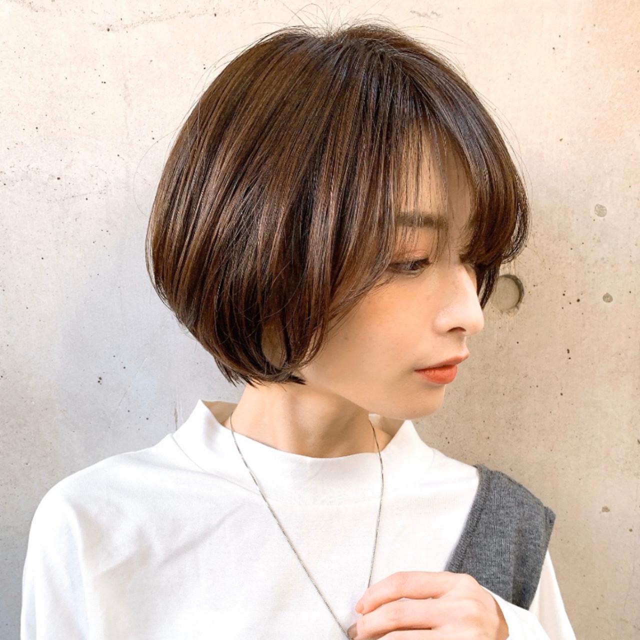 ショートヘア ナチュラル可愛い ショート ショートボブ ヘアスタイルや髪型の写真・画像