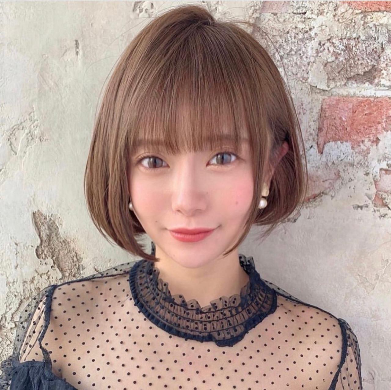 ミニボブ ショートボブ 大人ヘアスタイル モテ髪 ヘアスタイルや髪型の写真・画像