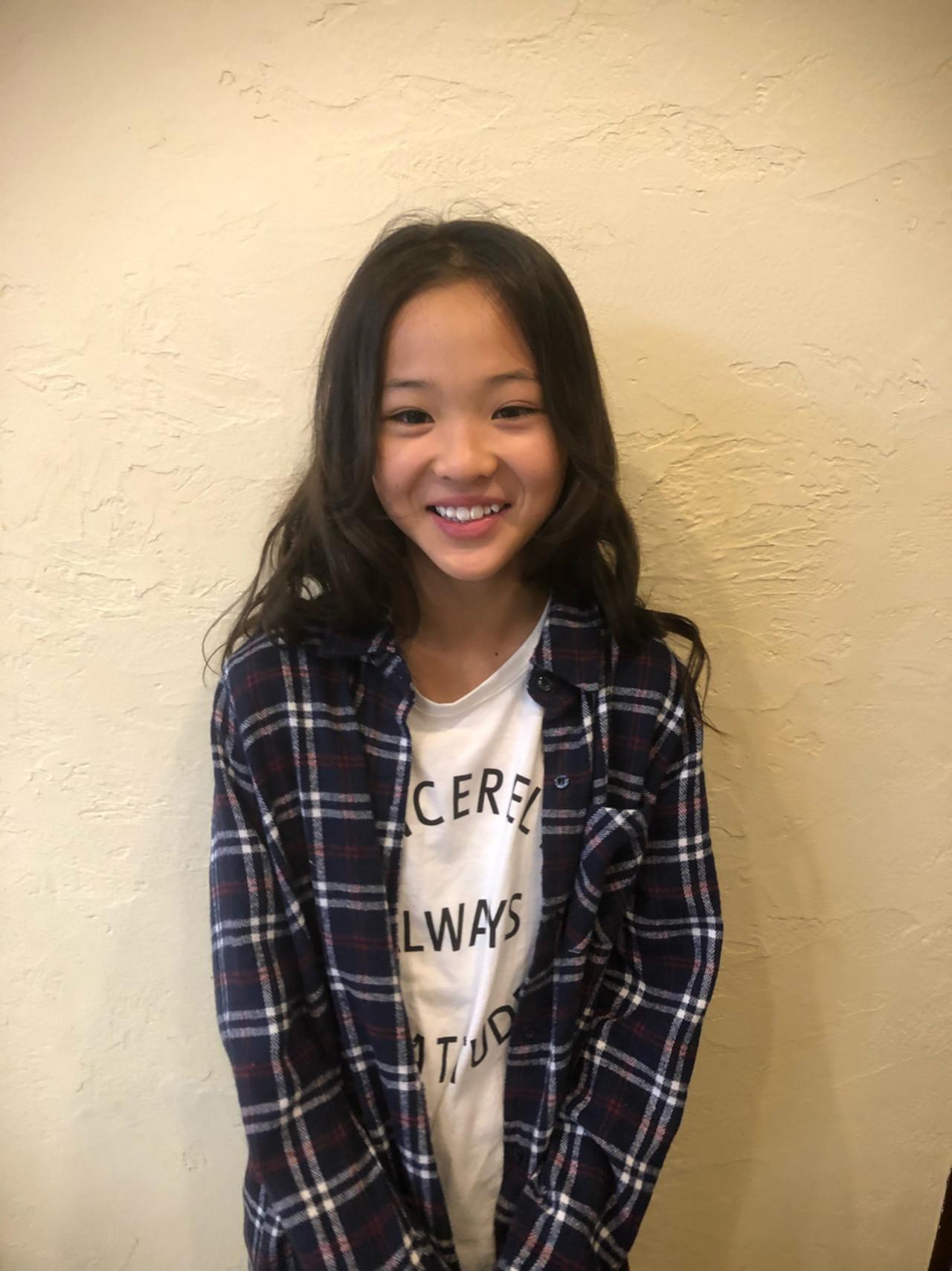 ガーリー 女子力 ヘアアレンジ 子供 ヘアスタイルや髪型の写真・画像