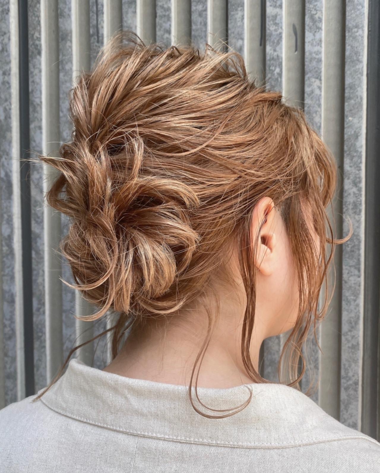 簡単ヘアアレンジ デートヘア お出かけヘア ヘアアレンジ ヘアスタイルや髪型の写真・画像