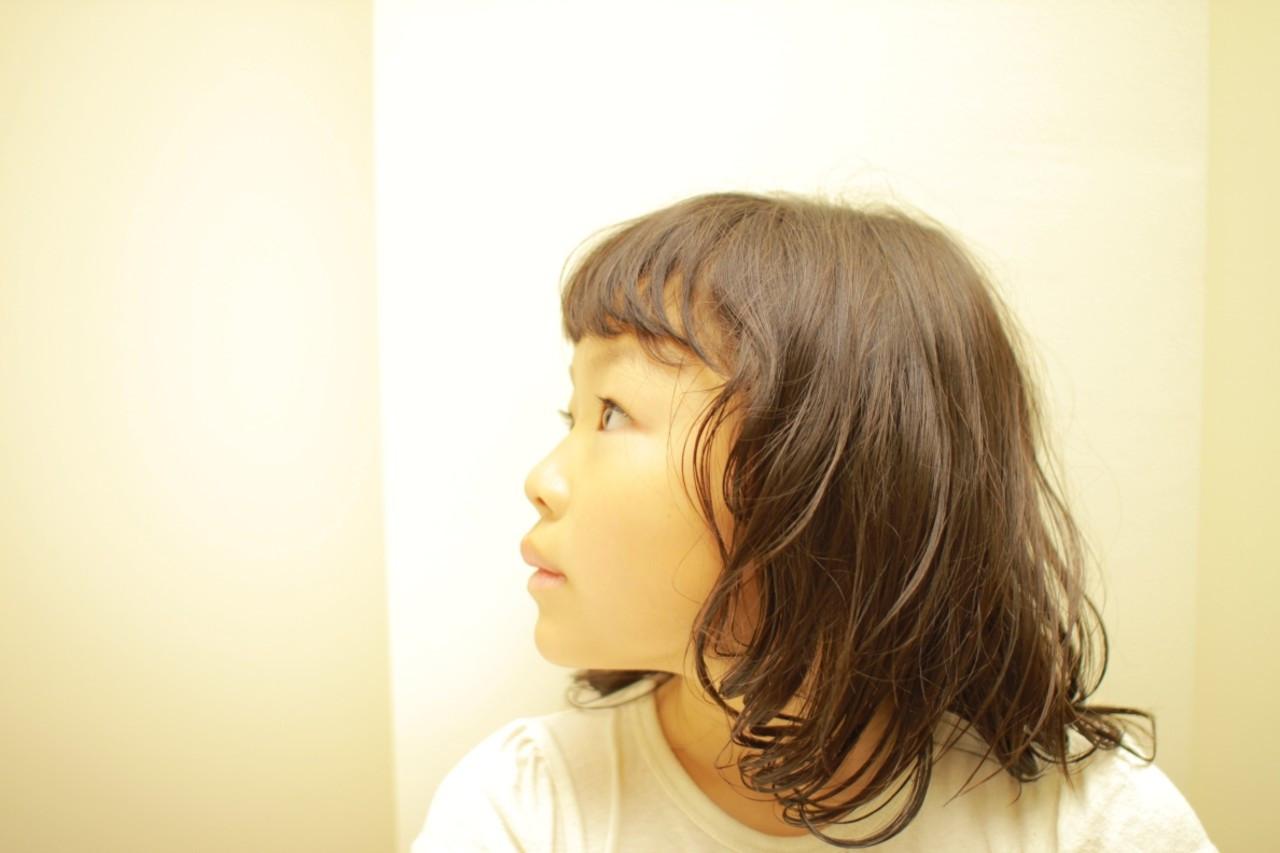 かわいい ナチュラル 子供 ボブ ヘアスタイルや髪型の写真・画像