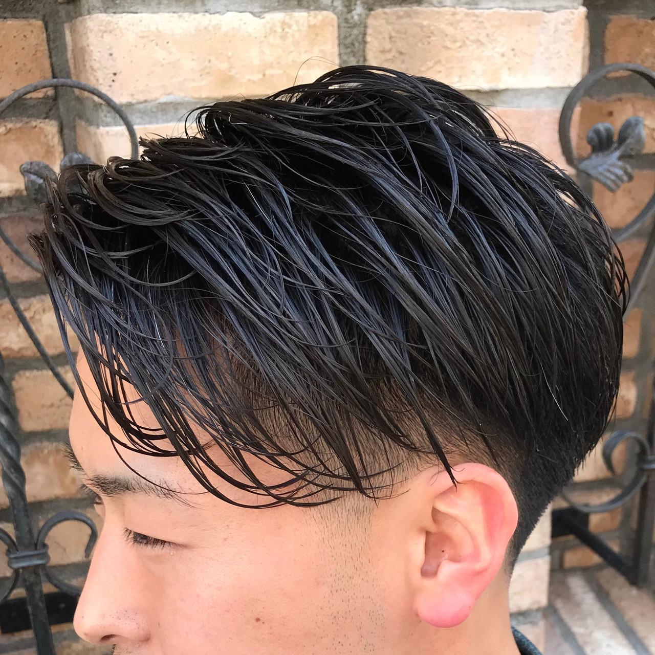 ナチュラル 刈り上げ メンズ 刈り上げショート ヘアスタイルや髪型の写真・画像